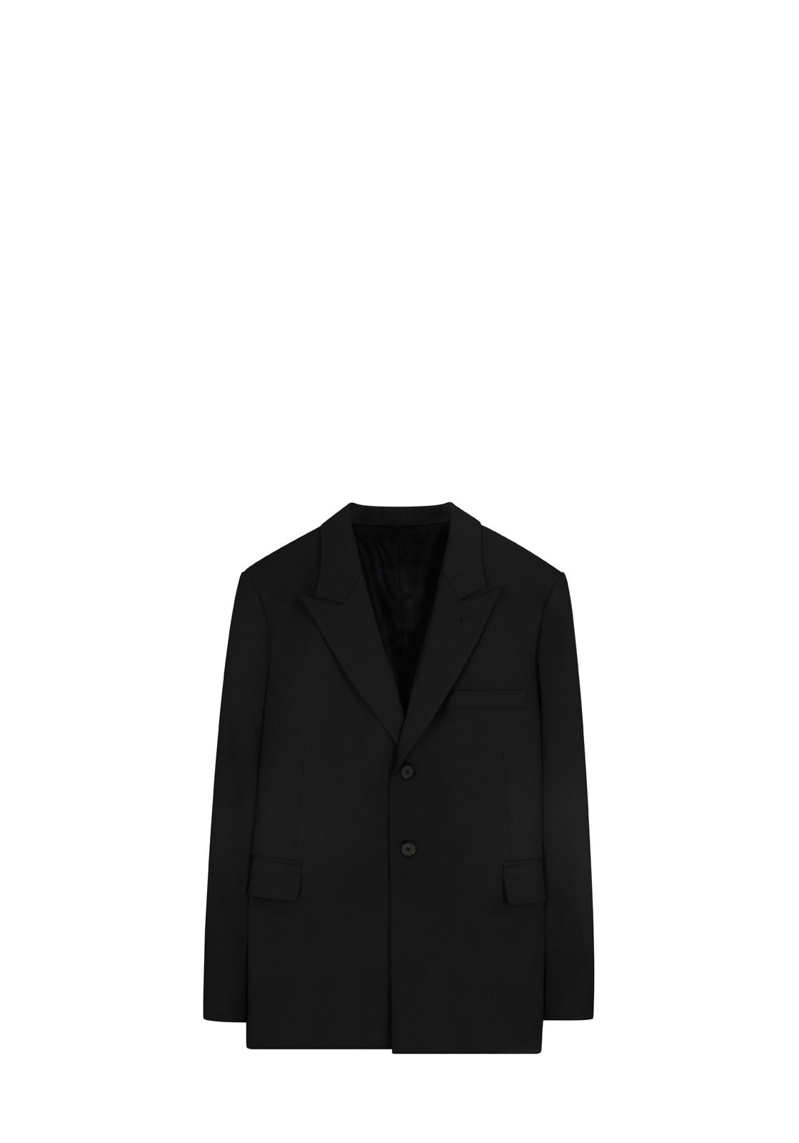 V610 OVERSIZE SINGLE JACKETBLACK