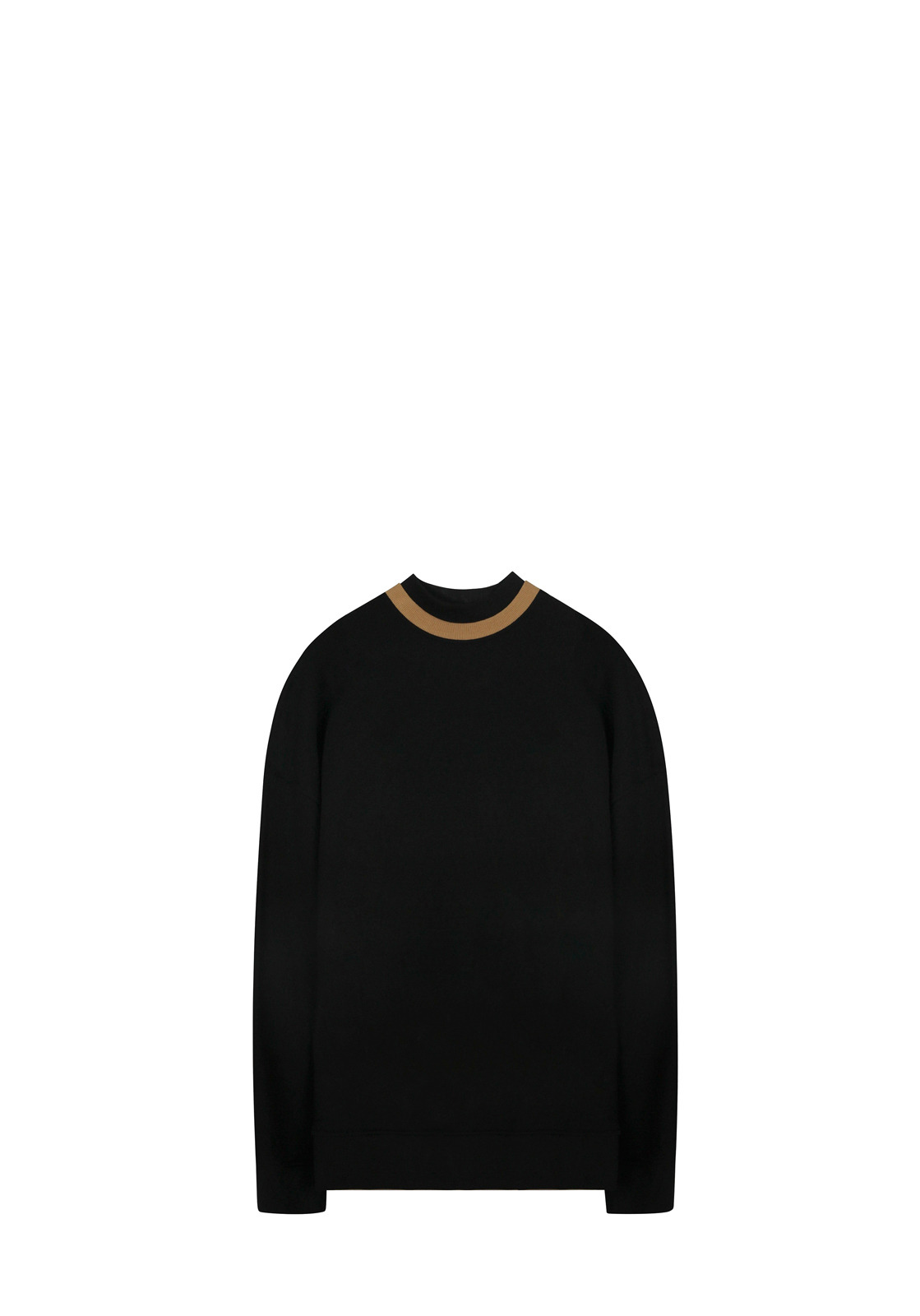 V311 DOUBLE NECK SWEATSHIRTBLACK