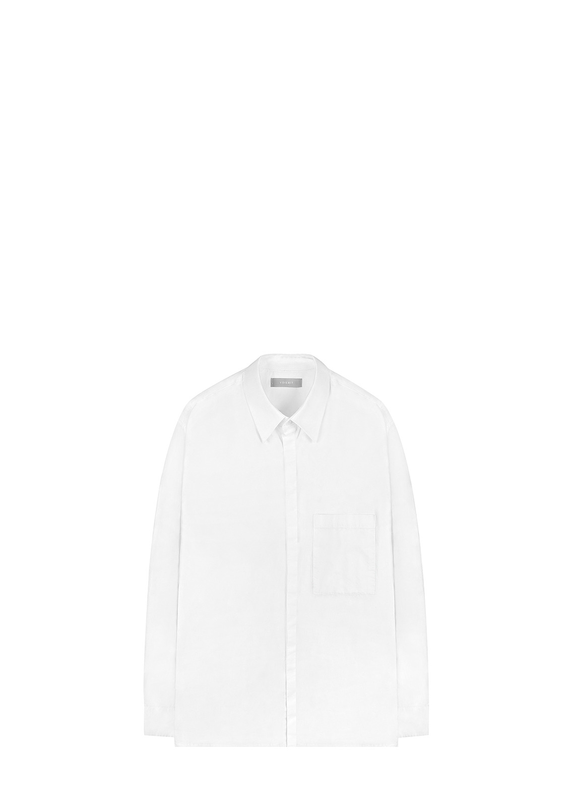 V410 BIG COLLAR HIDDEN SHIRTWHITE