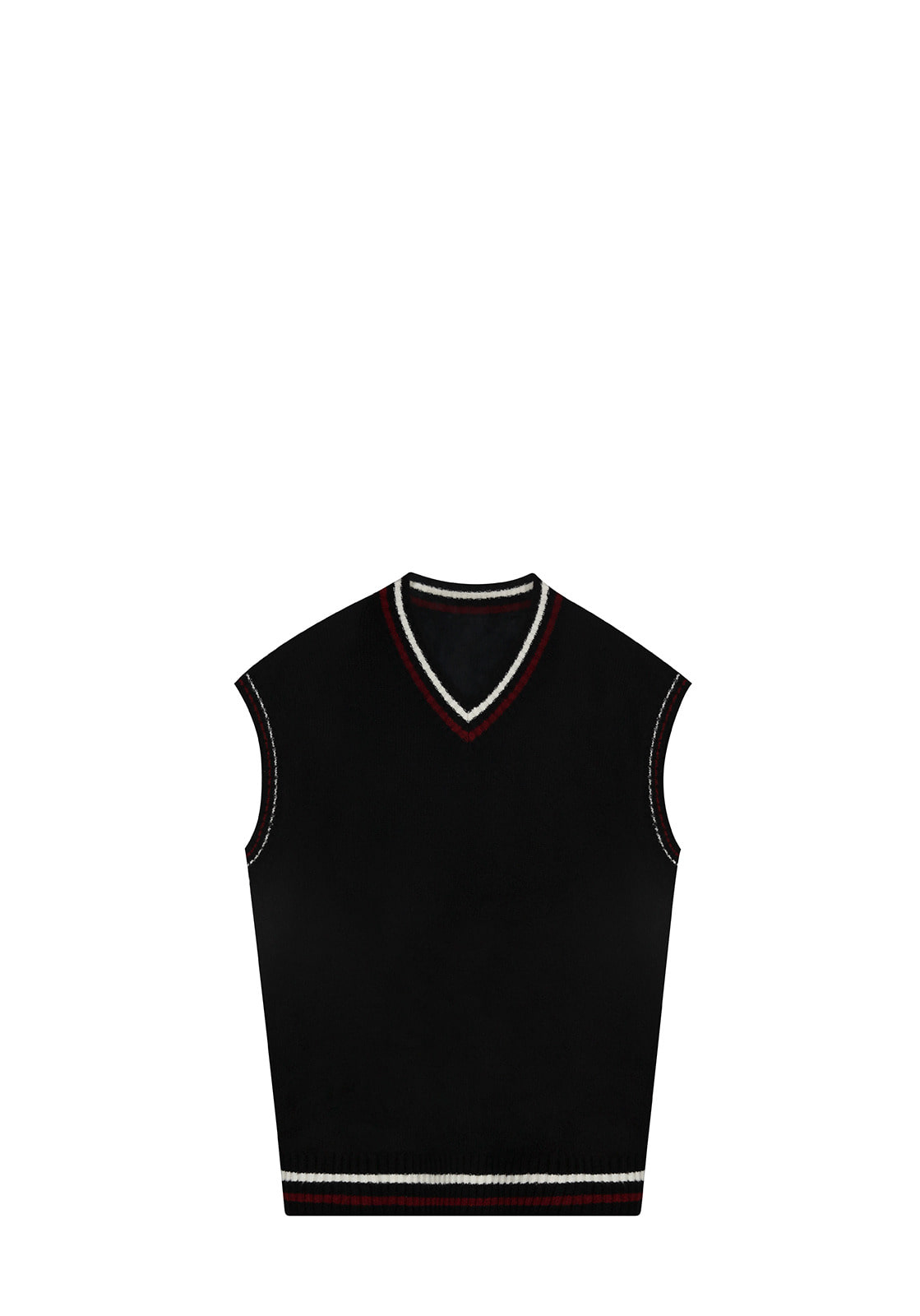 V511 TWO TONE VEST KNITBLACK