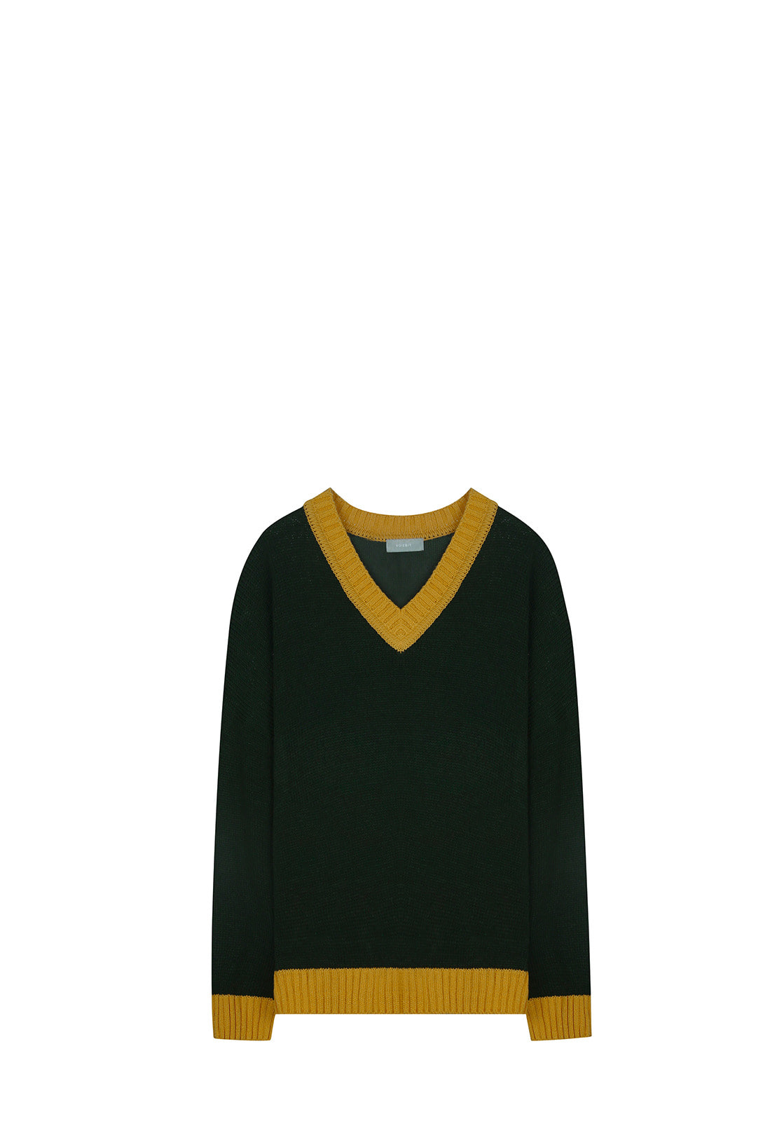 V513 COLORATION V-NECK KNITGREEN