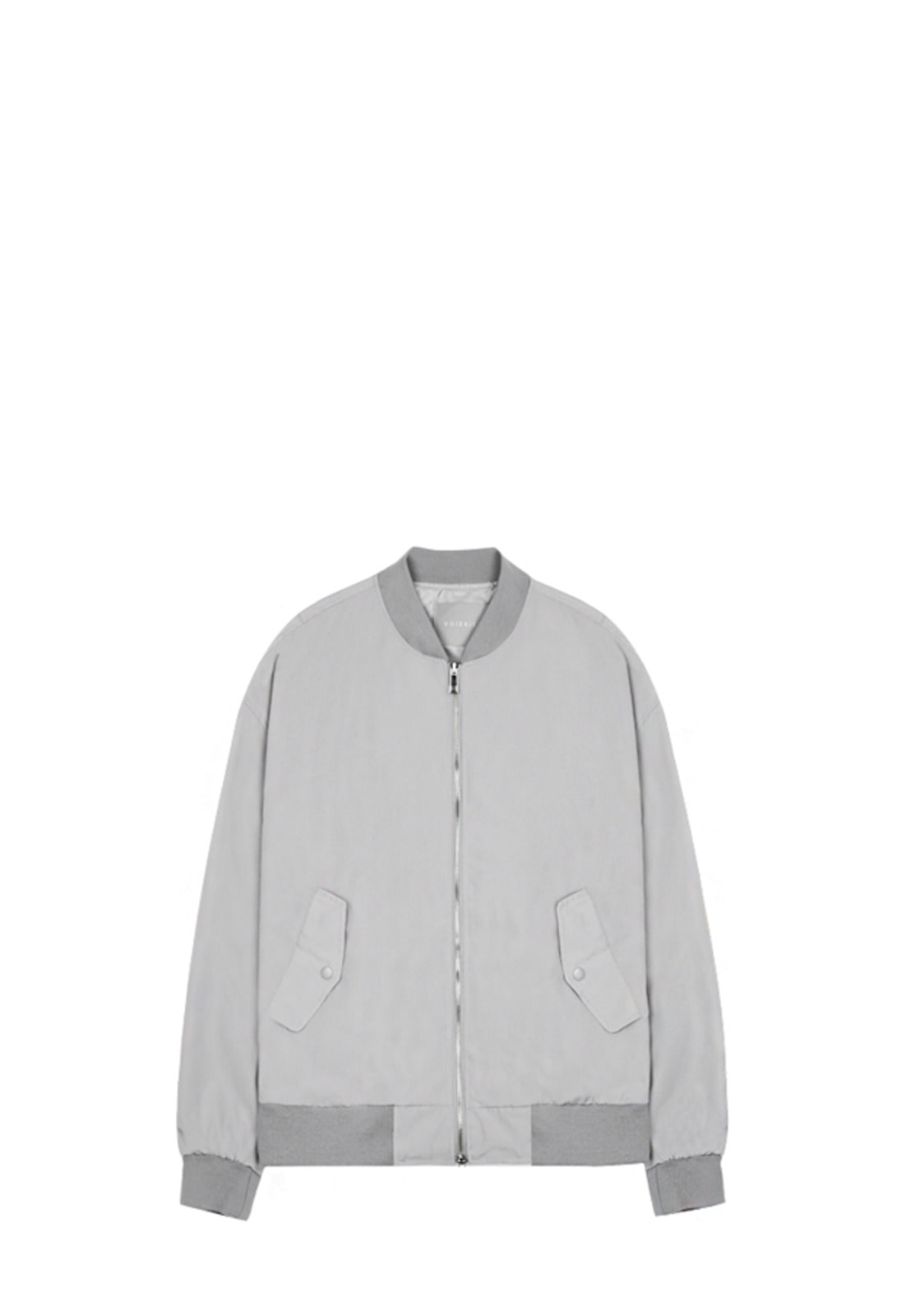 V620 SIMPLE OVERSIZE MA-1 JACKETLIGHT GRAY