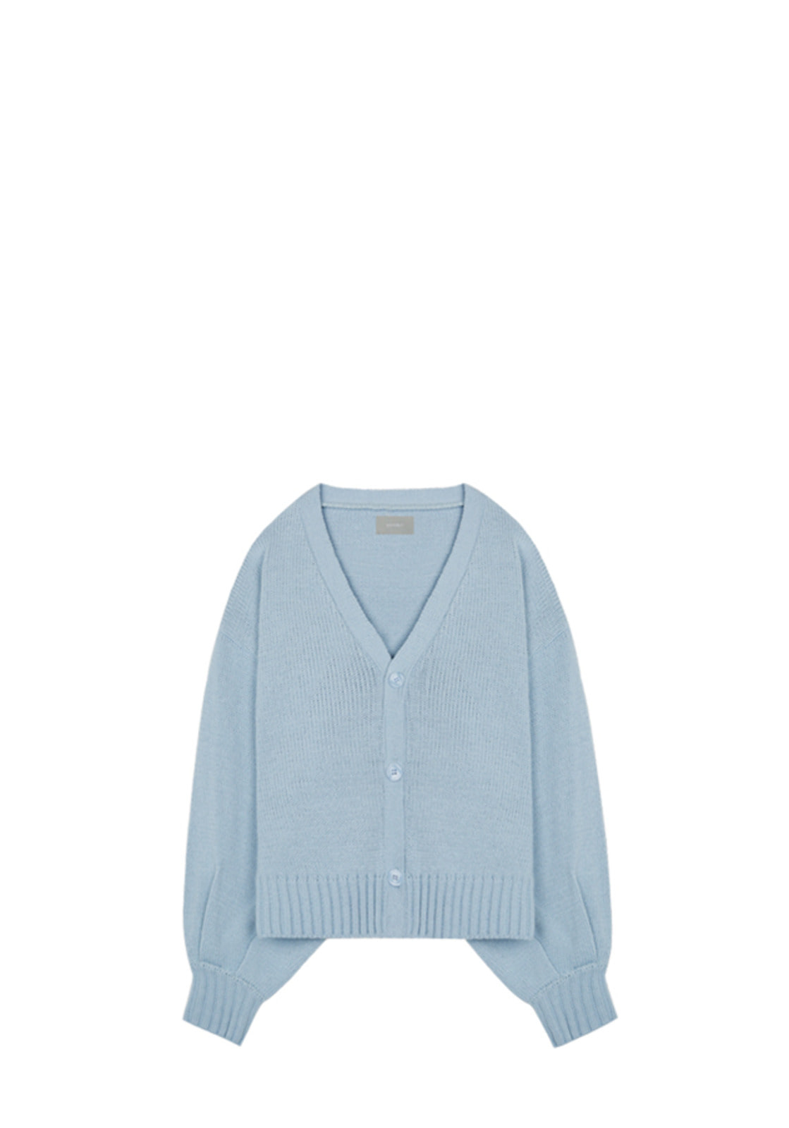 V534 BALLOON KNIT CARDIGAN  SKYBLUE