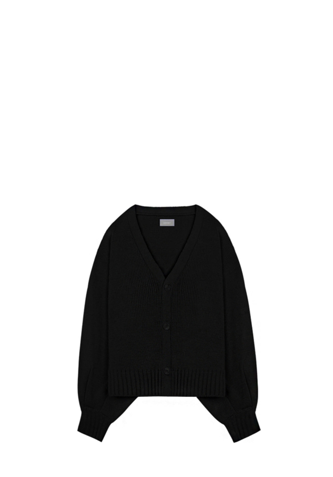 V534 BALLOON KNIT CARDIGAN  BLACK
