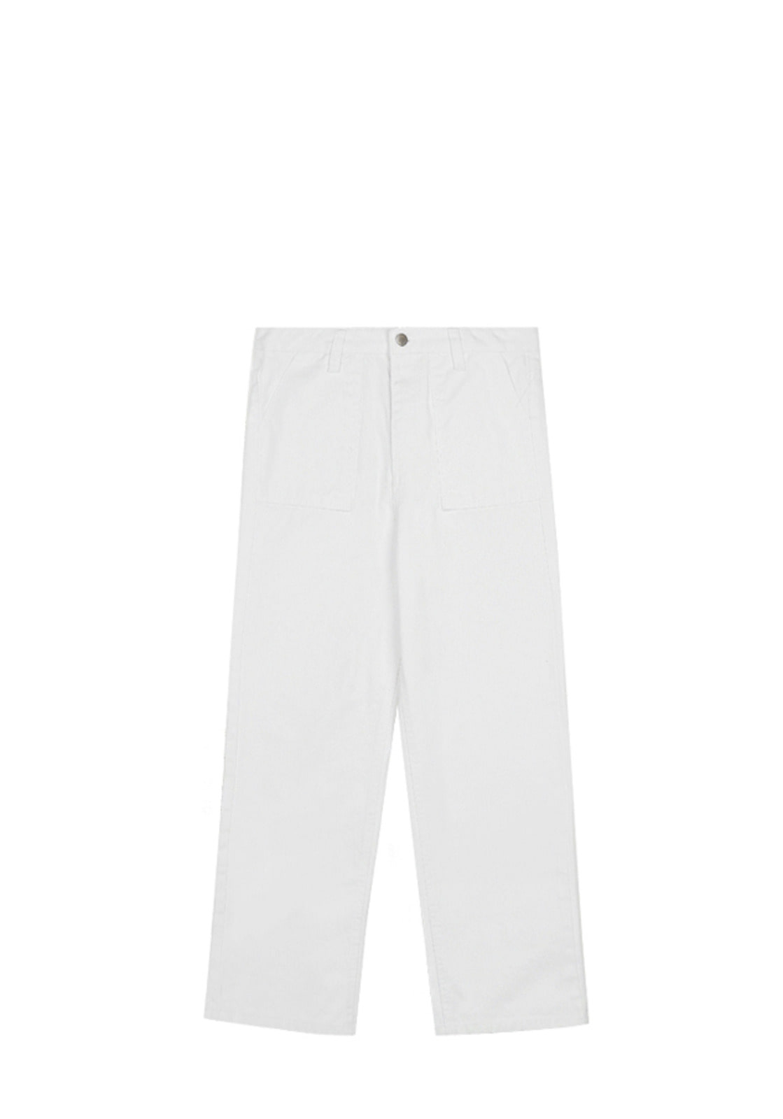 V225 COTTON HIGH WEST PANTS WHITE
