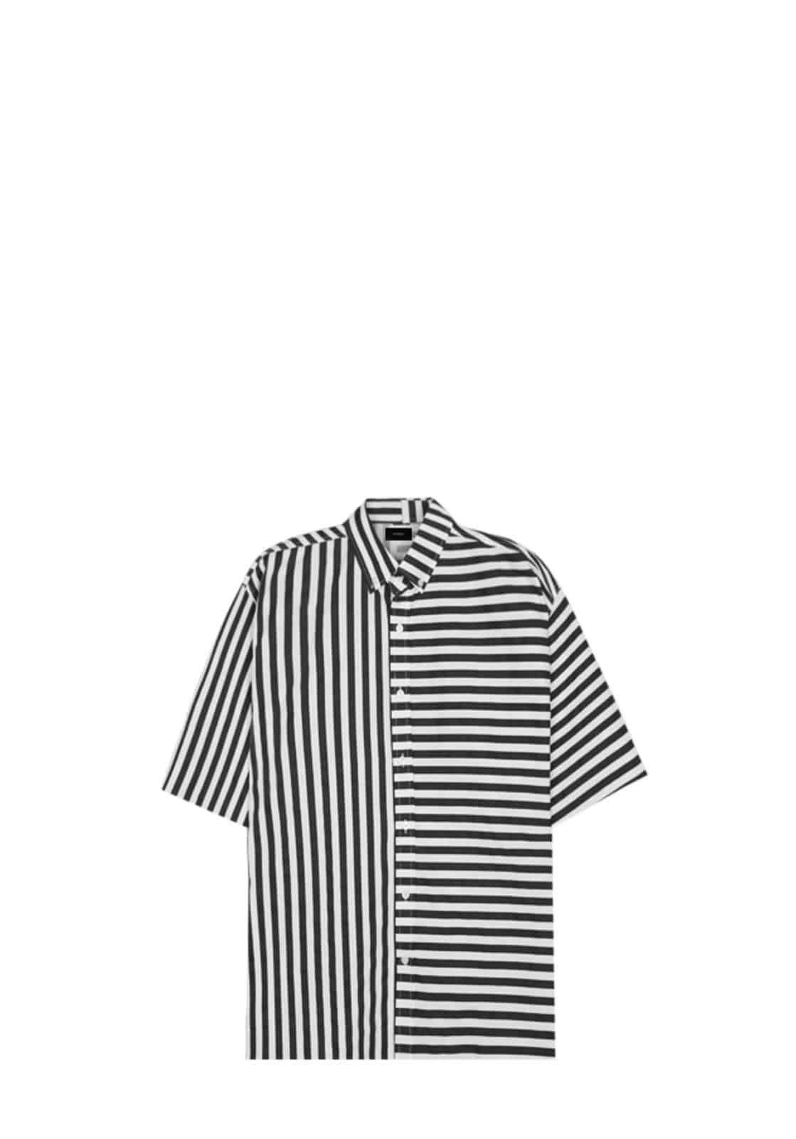 V421 MARINE STRIPE SHIRT  BLACK