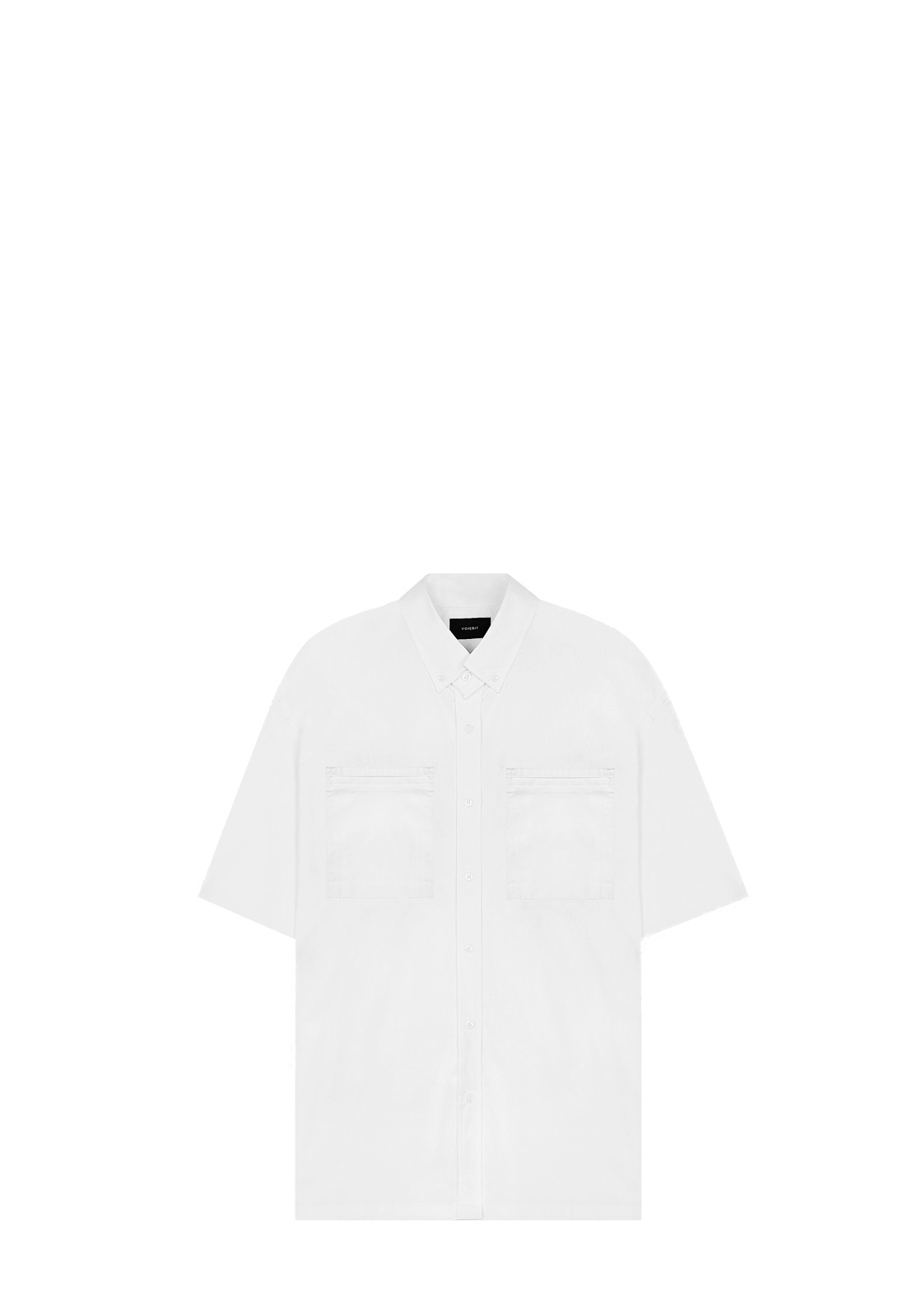 V424 DOUBLE LIP POCKET SHIRT  WHITE