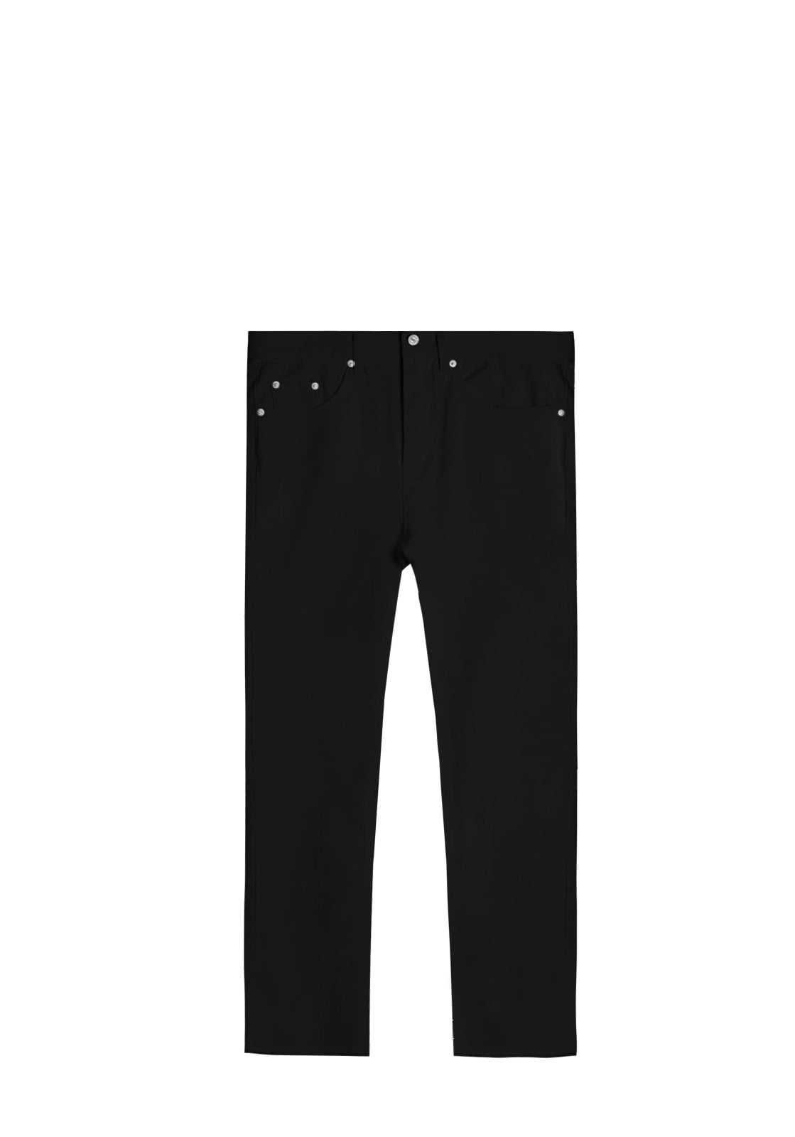 V221 EASY BOY FIT DENIM PANTS  BLACK