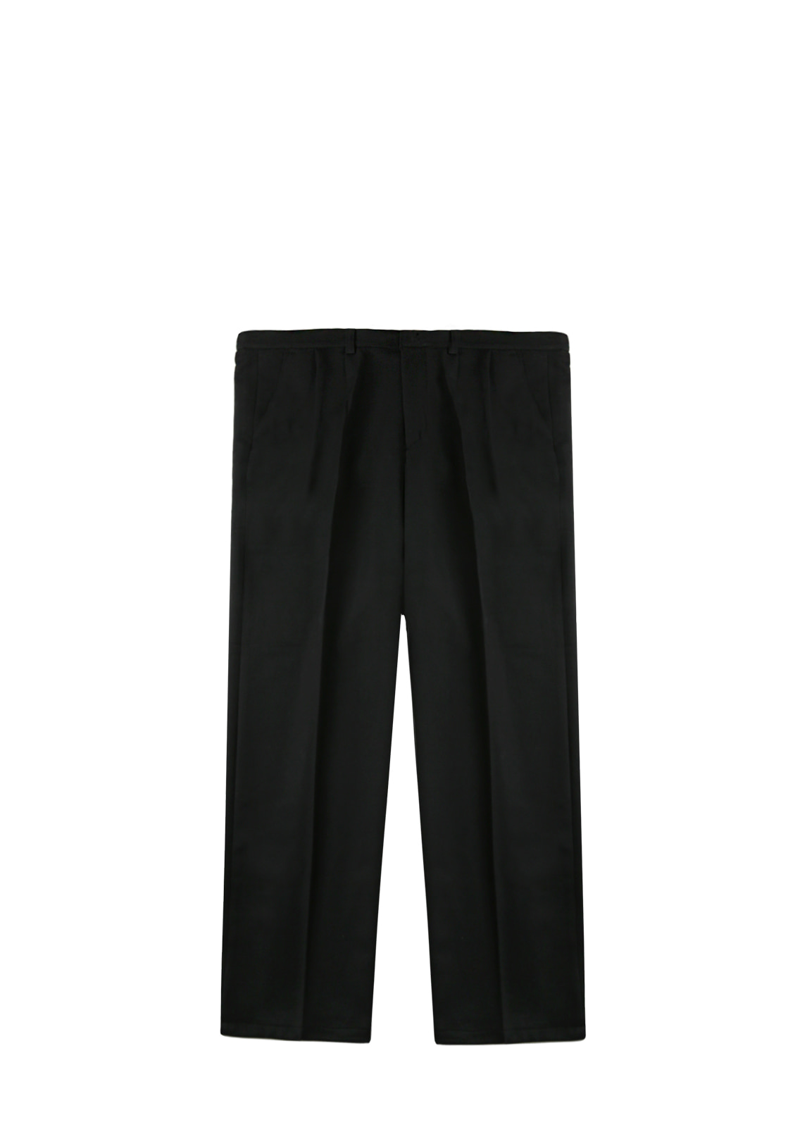 V230 TWO TUCK WIDE SLACKS  BLACK