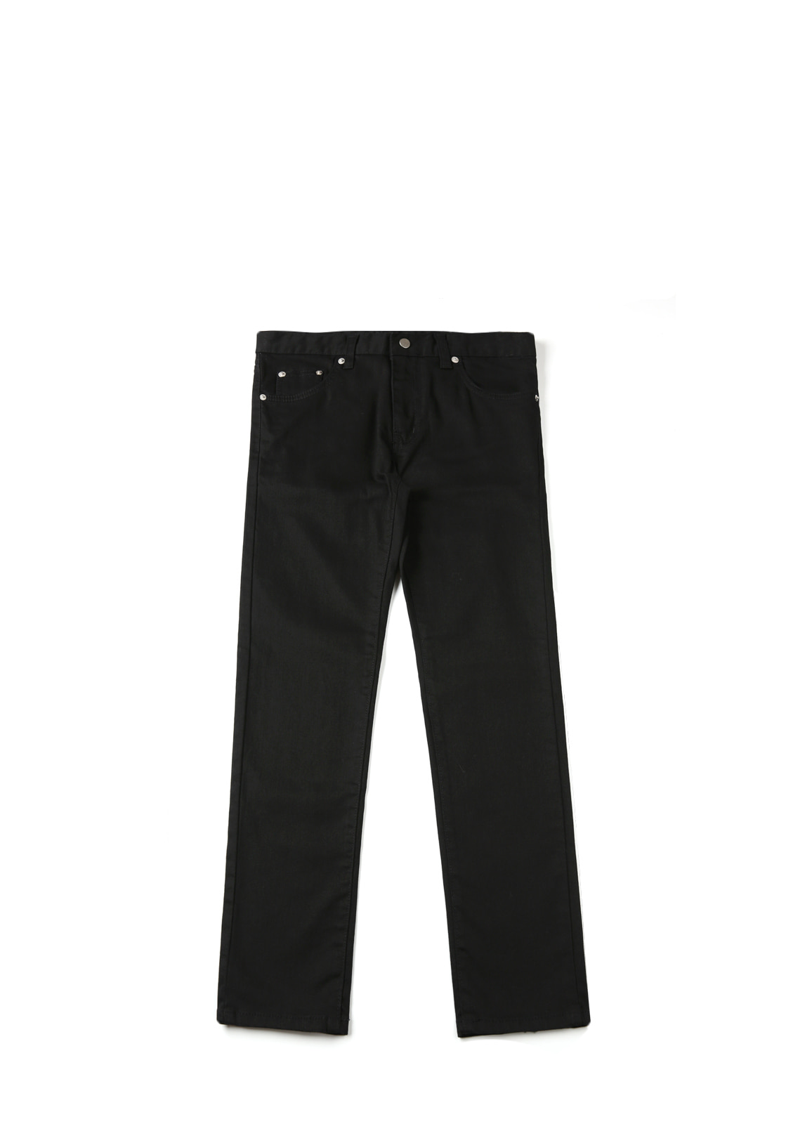V236 SIMPLE SLIM BLACK JEANS  BLACK