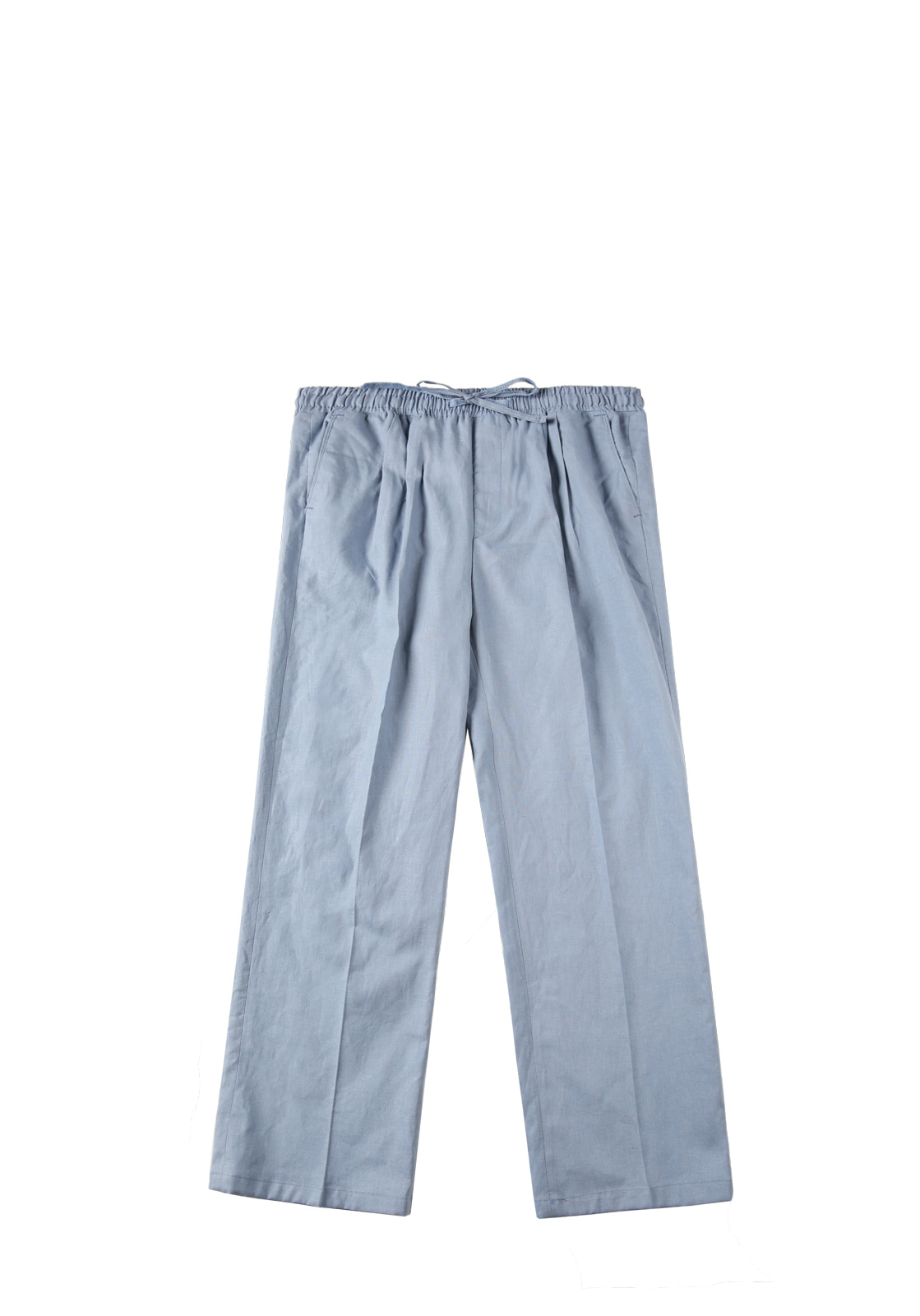 V240 LINEN WIDE PANTS  SKYBLUE