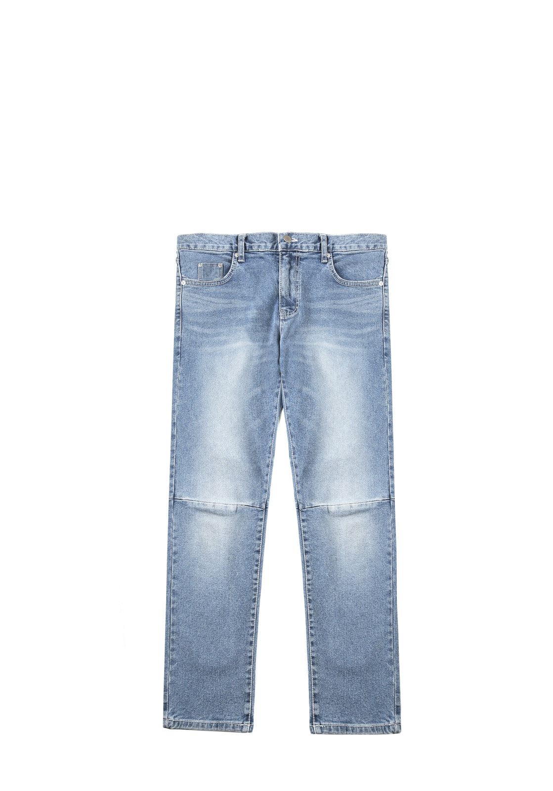 V243 INCISION SPAN DENIM PANTS  BLUE