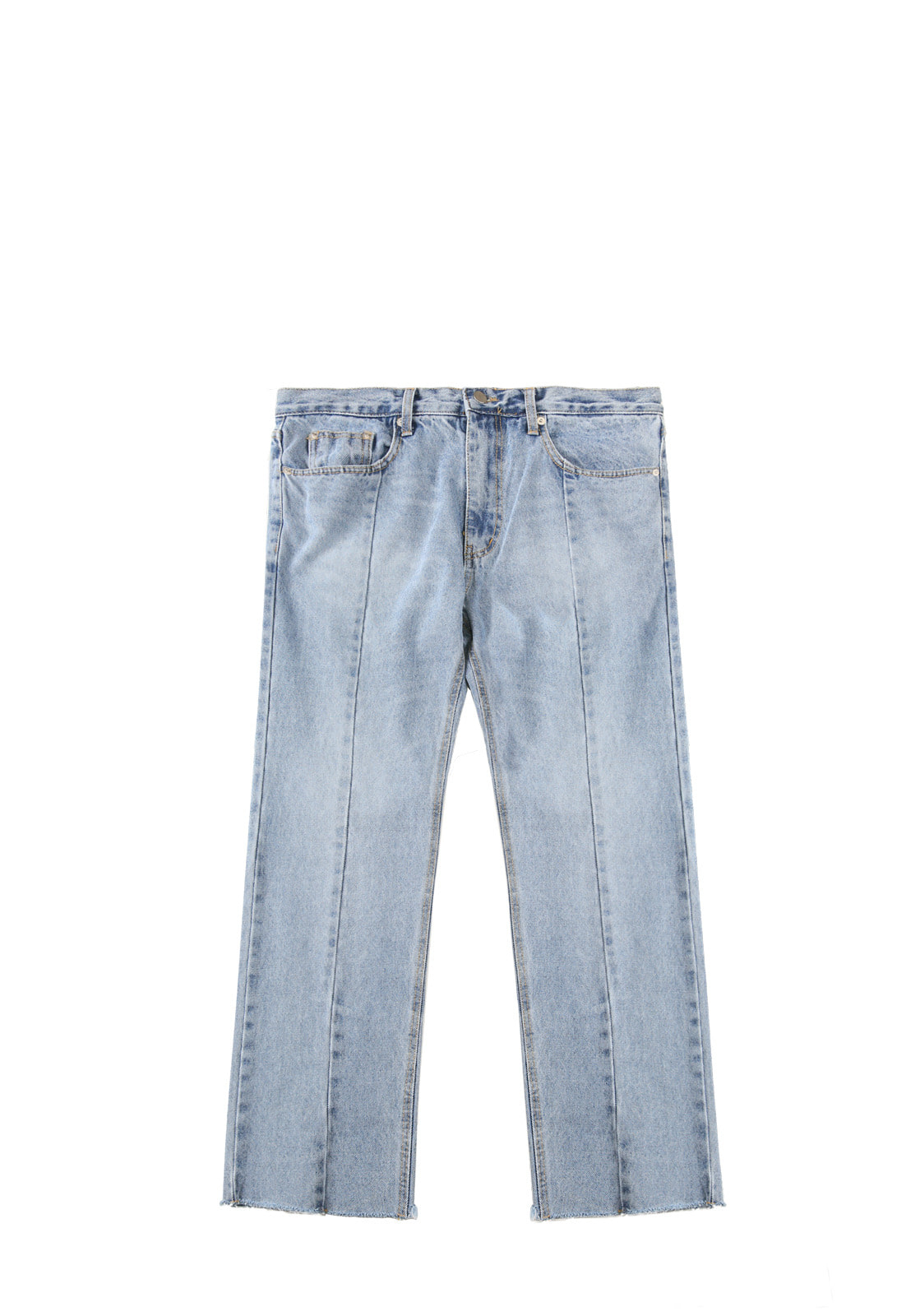 V244 PANEL WIDE DENIM PANTS  LIGHT BLUE