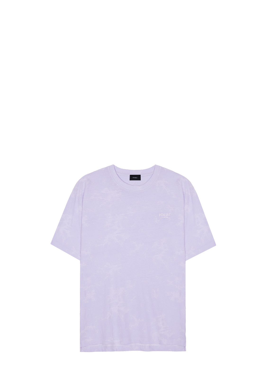 V334 WASHING LOGO HALF-TEE  PURPLE