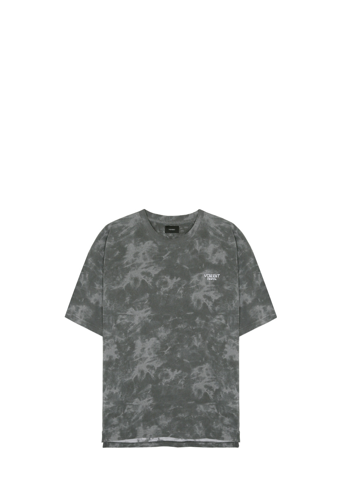 V334 WASHING LOGO HALF-TEE  CHARCOAL