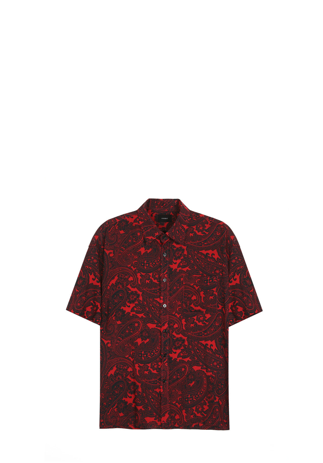 V430 PAISELY HALF-SHIRT  RED