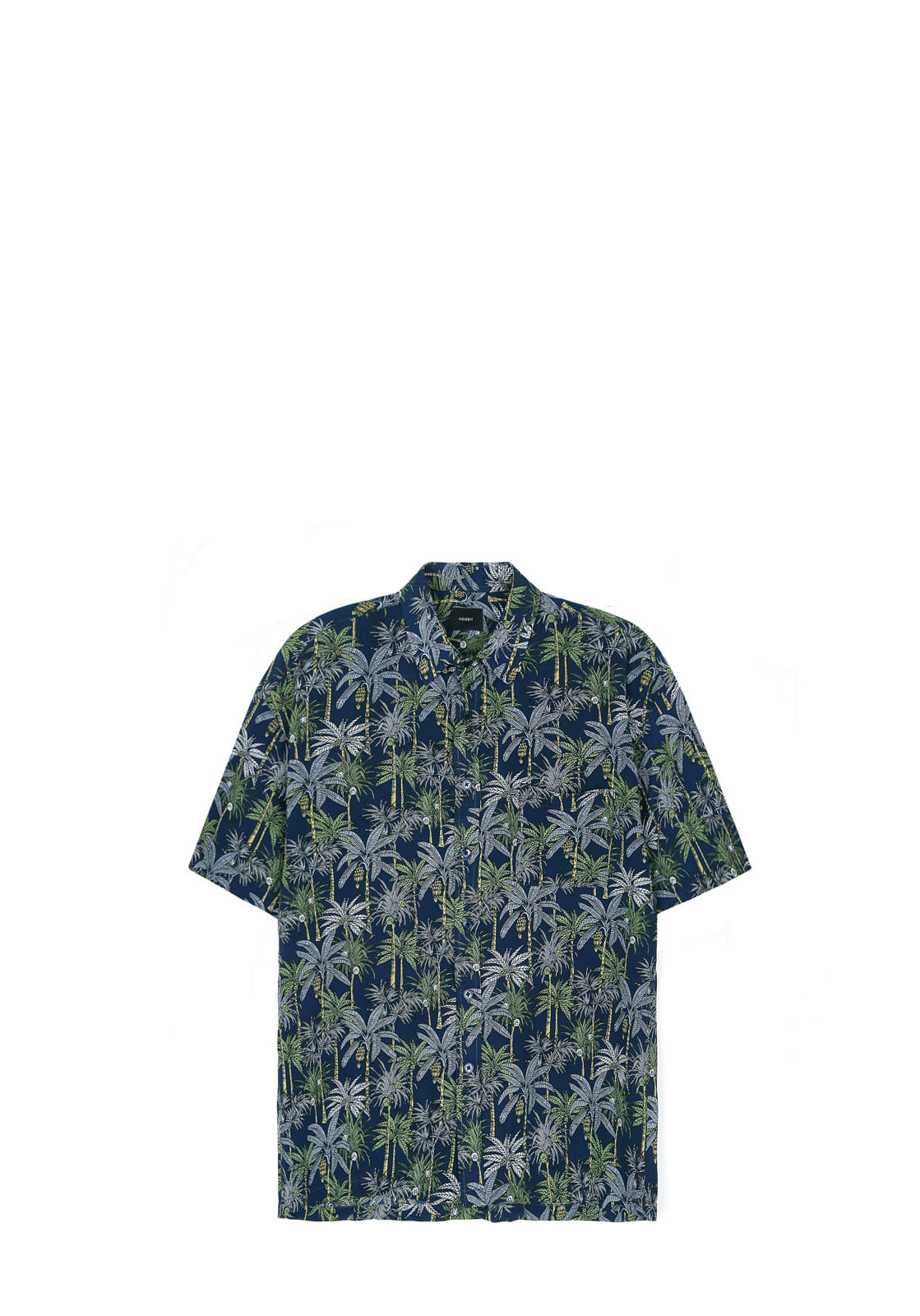 V431 COCONUT TREE HALF-SHIRT  NAVY