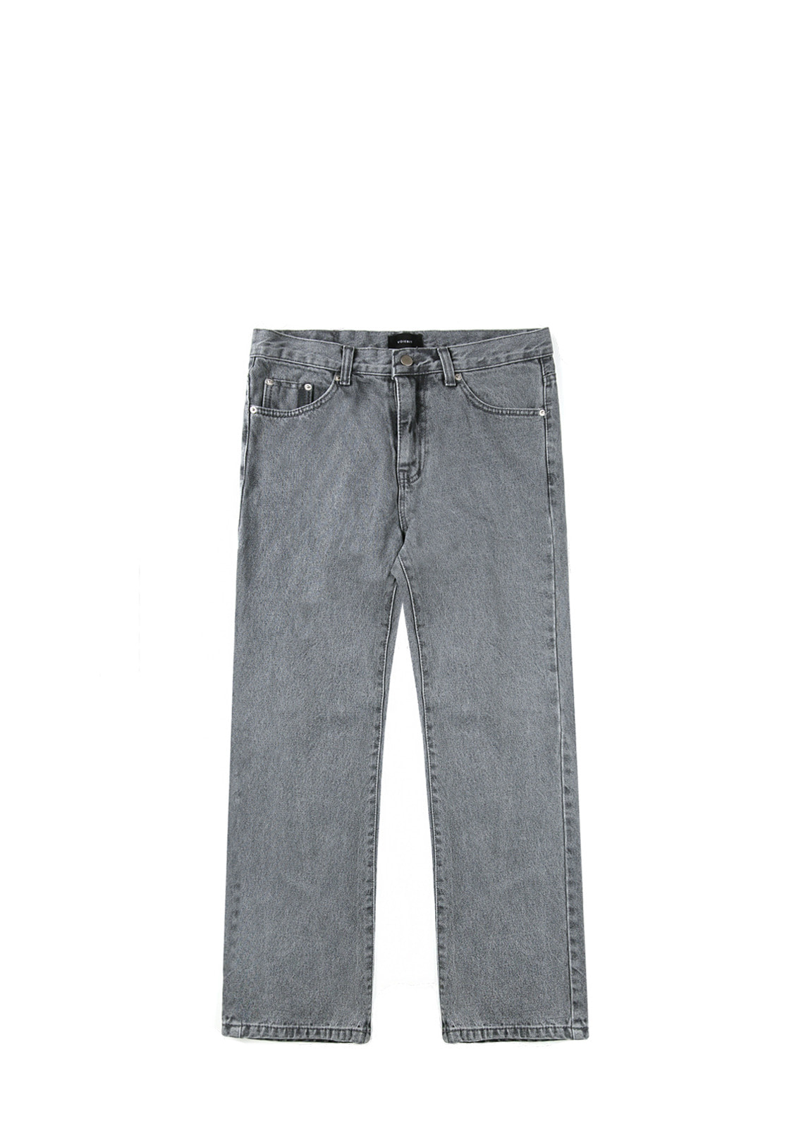 V232 NONE SPAN WIDE DENIM PANTS  GRAY