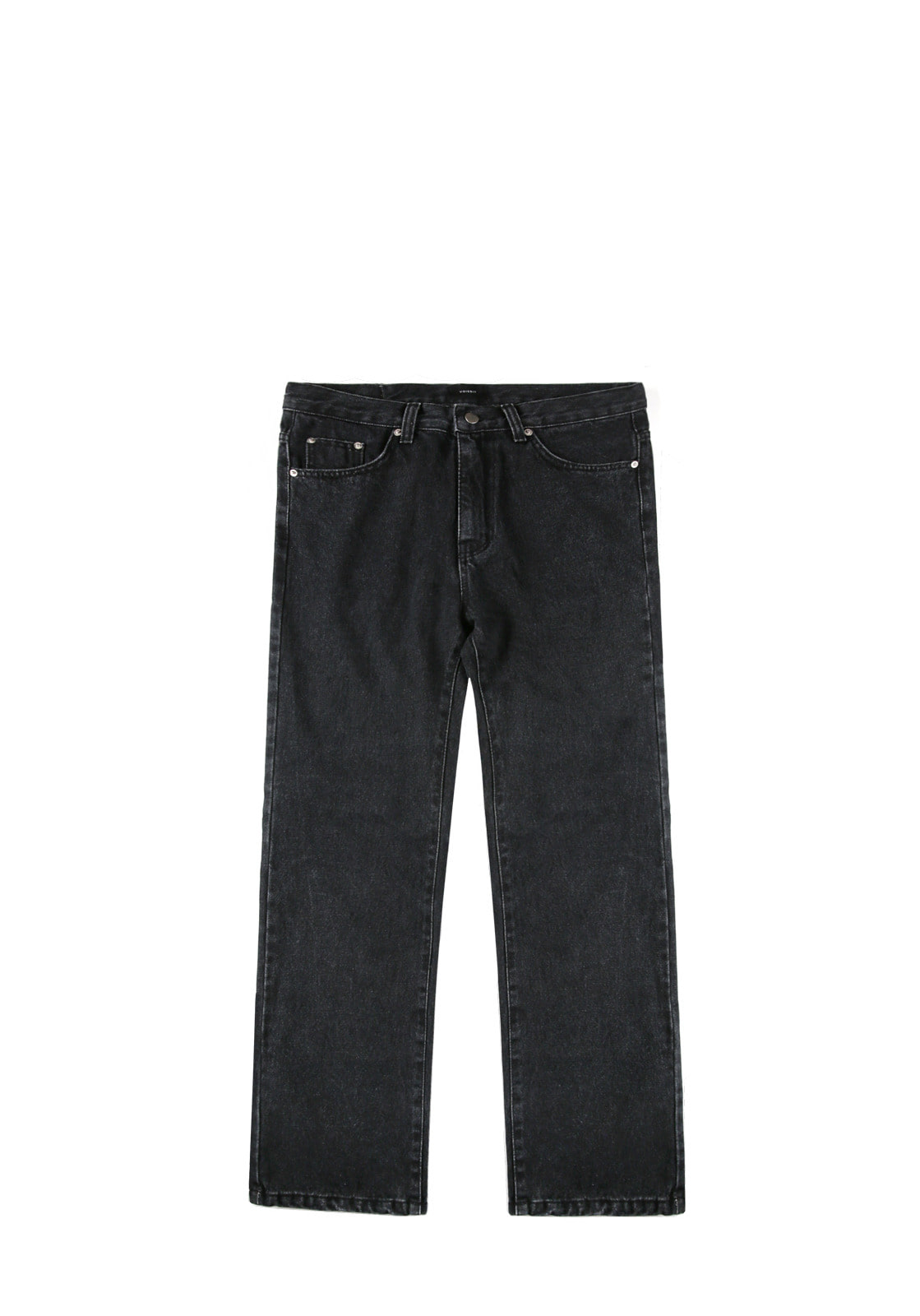 V232 NONE SPAN WIDE DENIM PANTS  BLACK