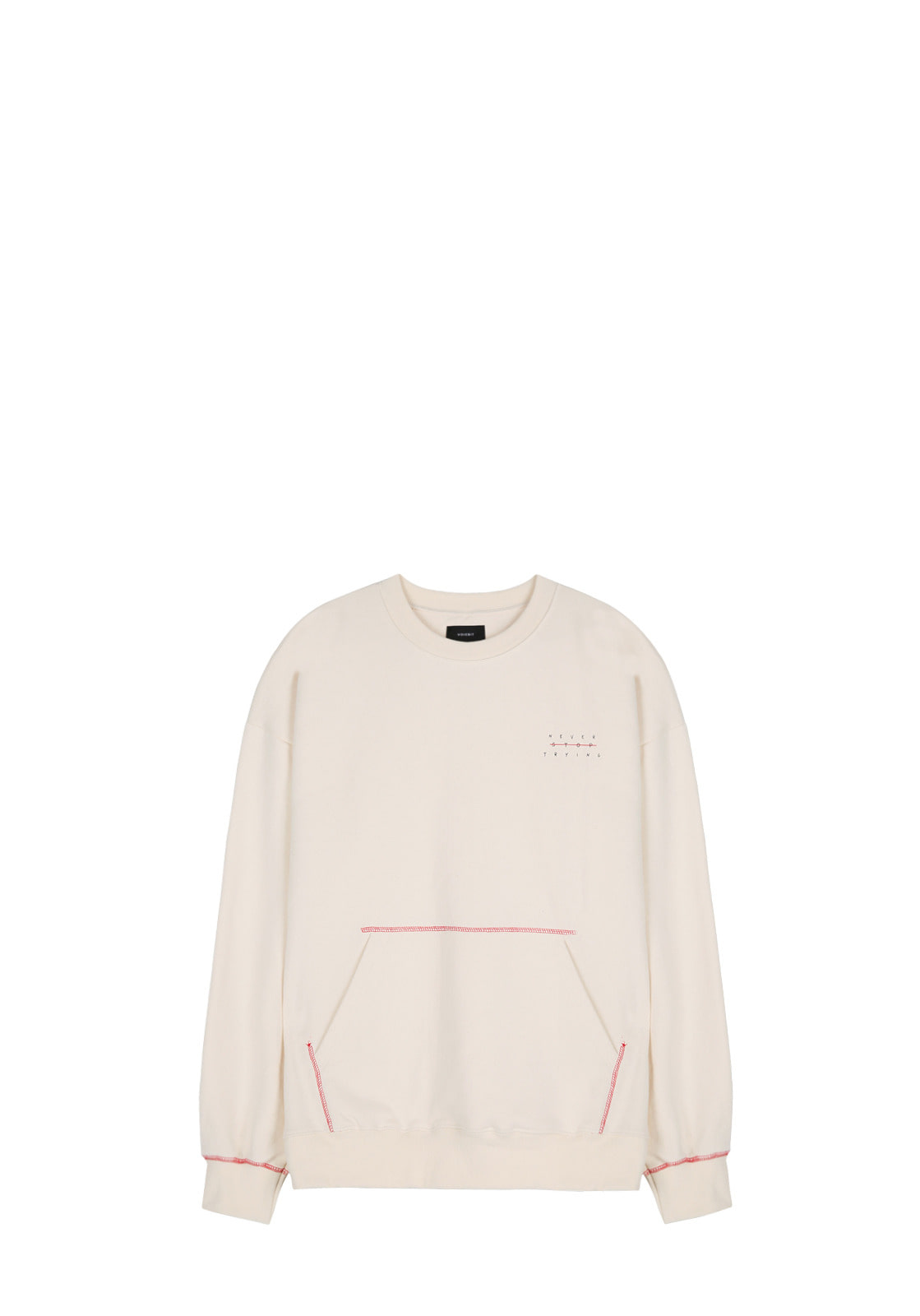 V342 POCKET STITCH SWEATSHIRT  IVORY
