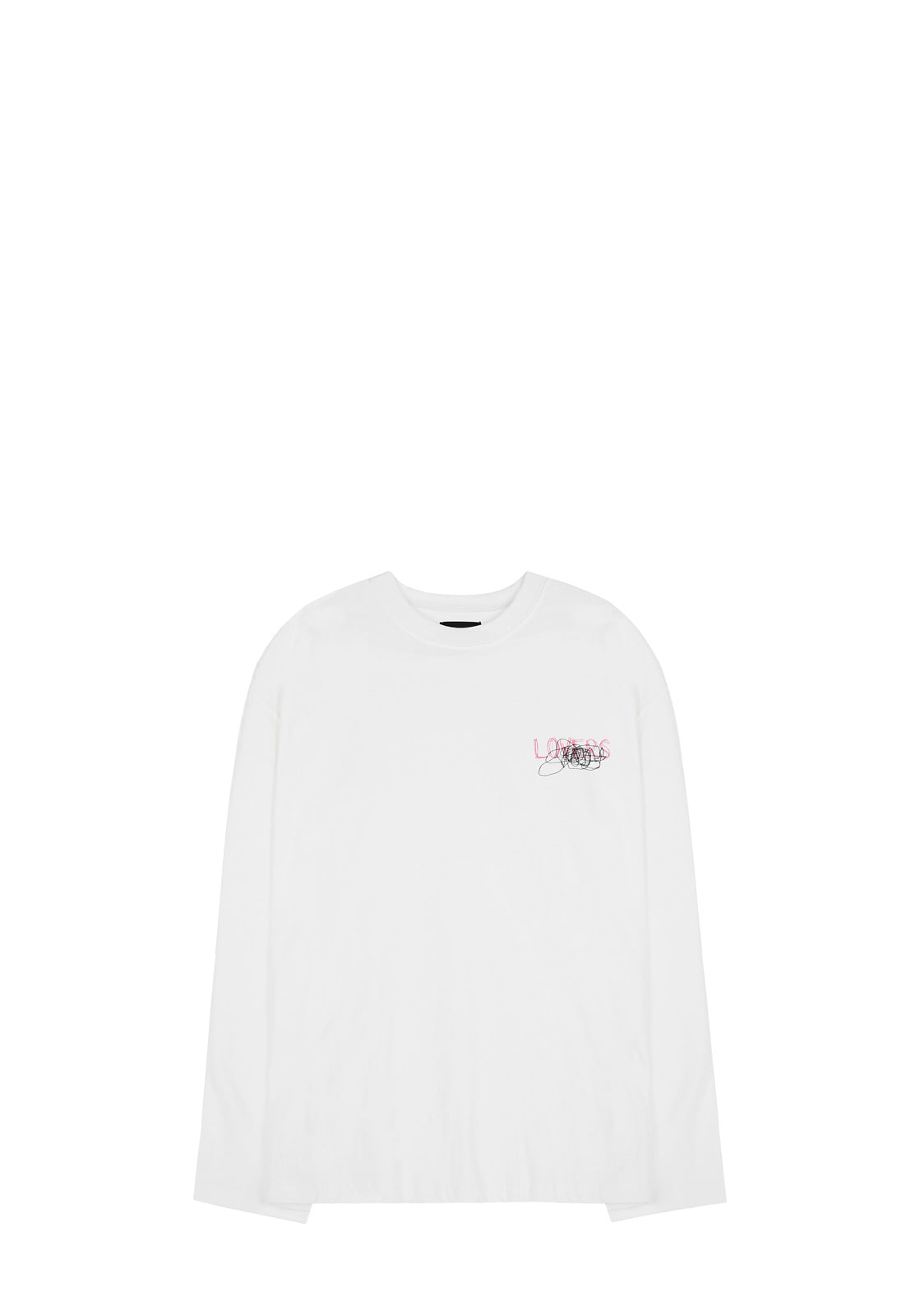 V341 GRAFFITI LONG-SLEEVE  WHITE