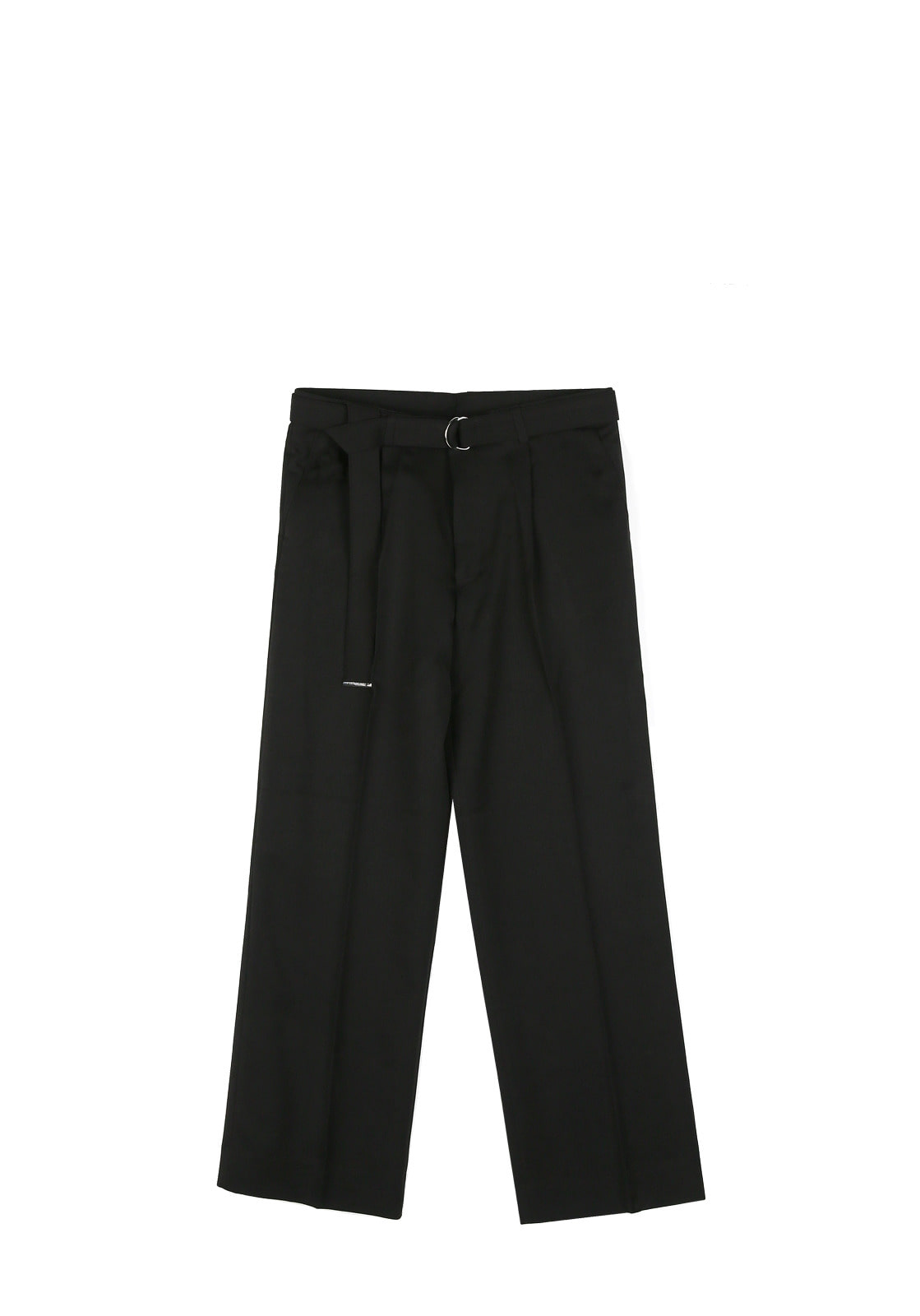 V250 STITCH BELT WIDE SLACKS  BLACK