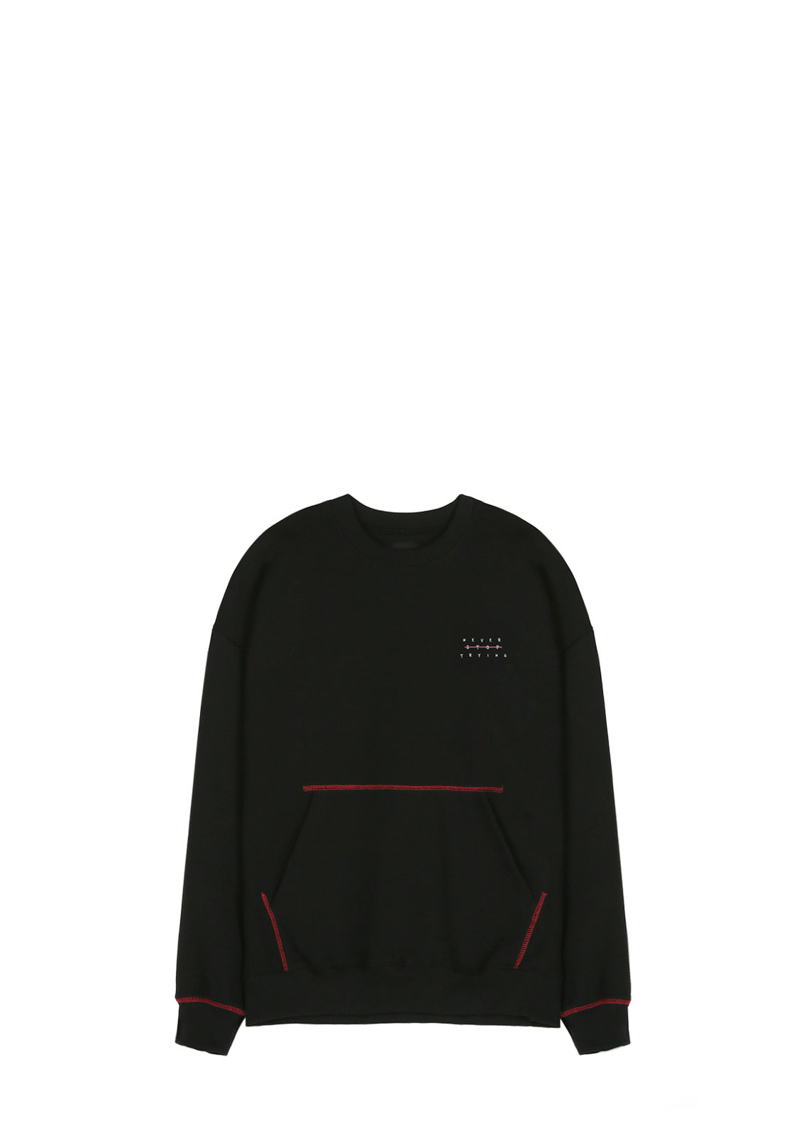 V342 POCKET STITCH SWEATSHIRT  BLACK