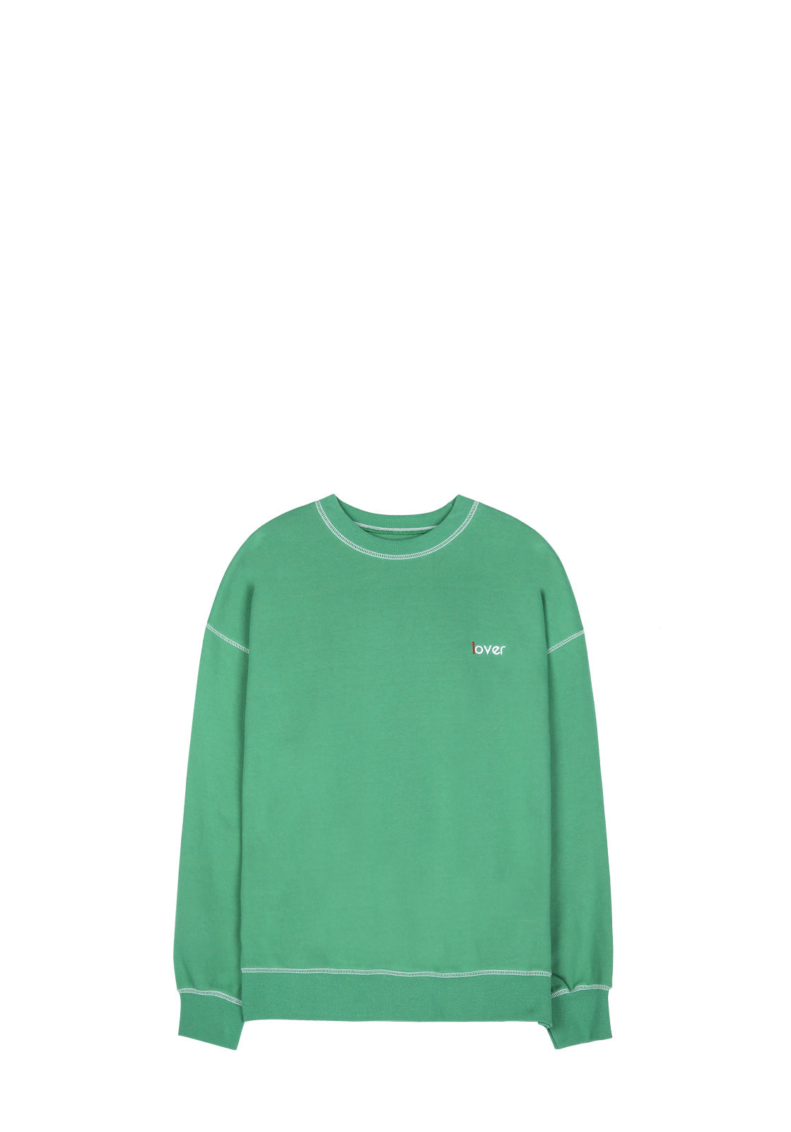 V340 LOVER STITCH SWEATSHIRT  GREEN