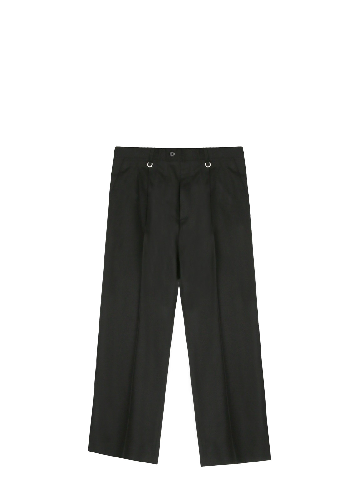 V256 REIMS WOOL WIDE SLACKS  BLACK
