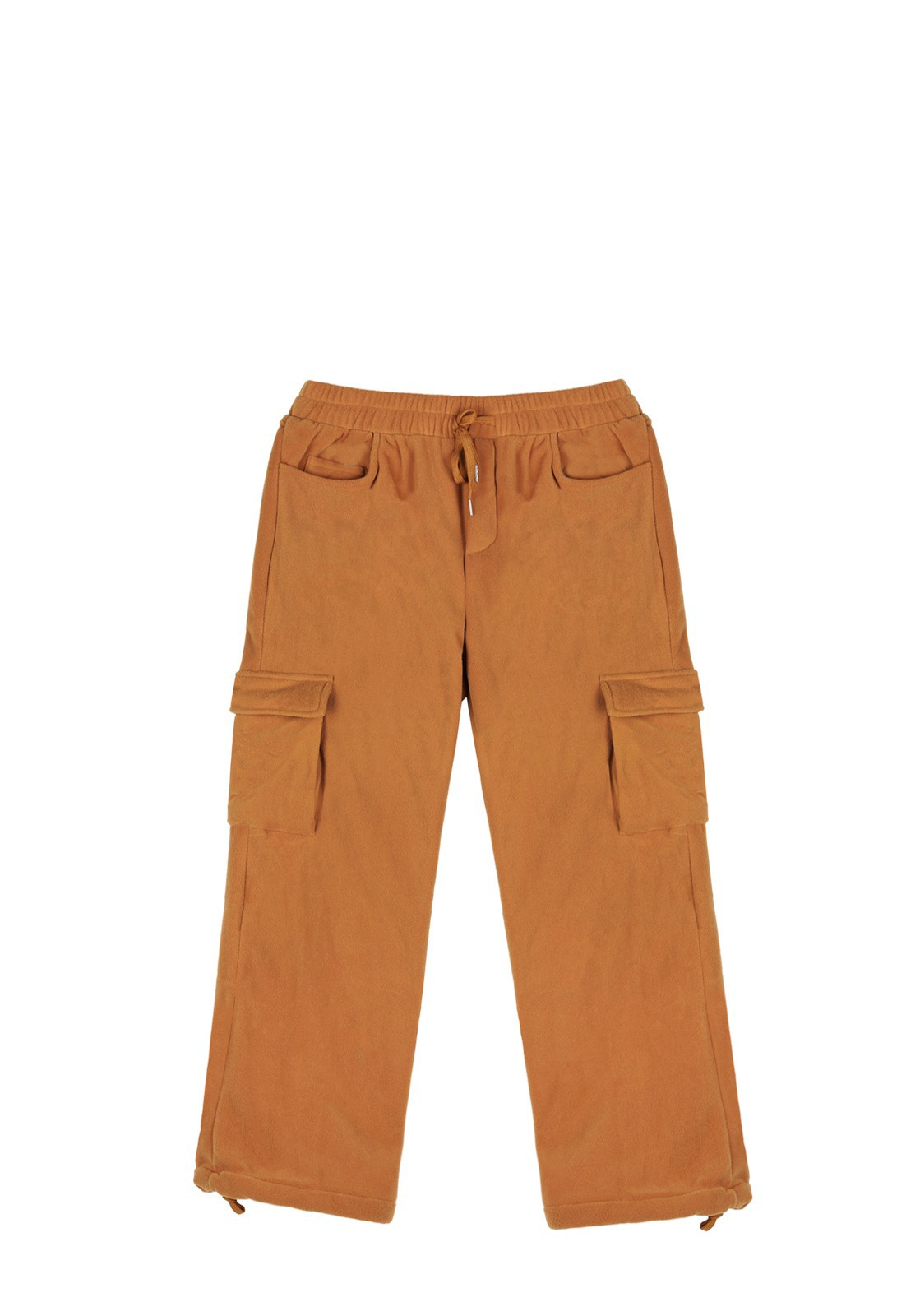 V254 FLEECE CARGO WIDE PANTS  BROWN