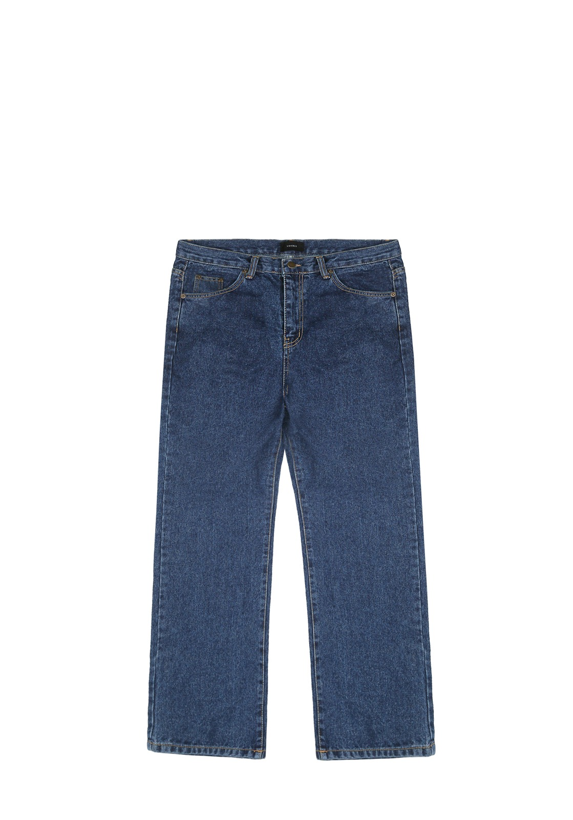 V232 NONE SPAN WIDE DENIM PANTS  DEEP BLUE