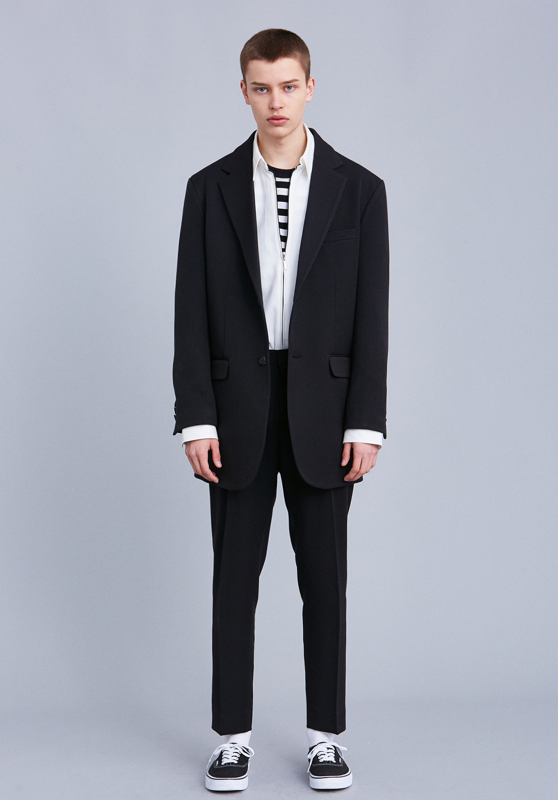 [세트상품] V706 RETRO OVERSIZE SINGLE SET  BLACK