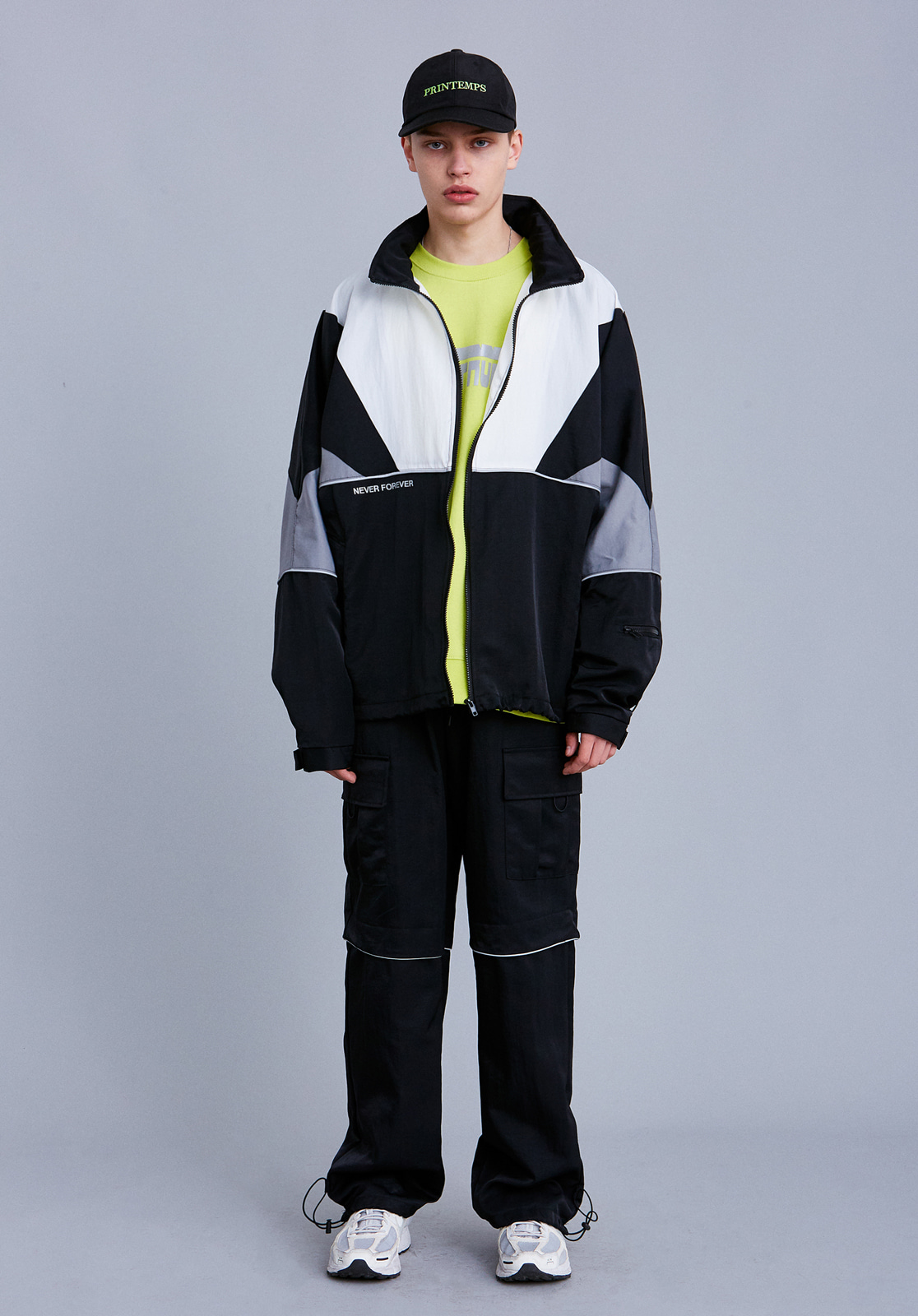[세트상품] V708 COMBI OVERSIZE WINDBREAKER SET  BLACK