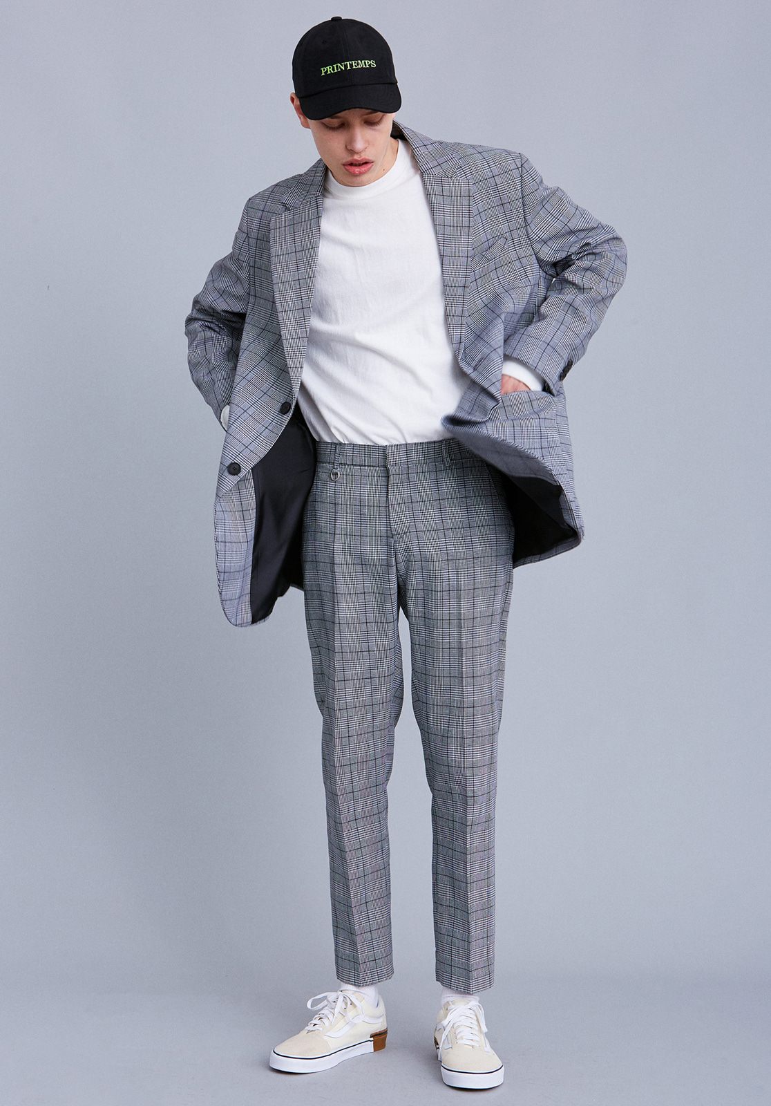 [세트상품] V707 RETRO OVERSIZE CHECK SINGLE SET  CHECK