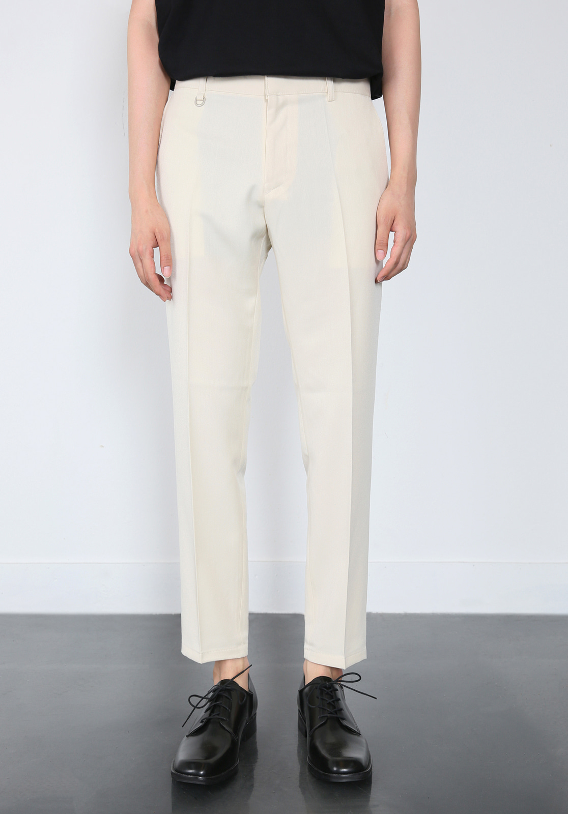V280 PROUD CROP SLACKS  CREAM