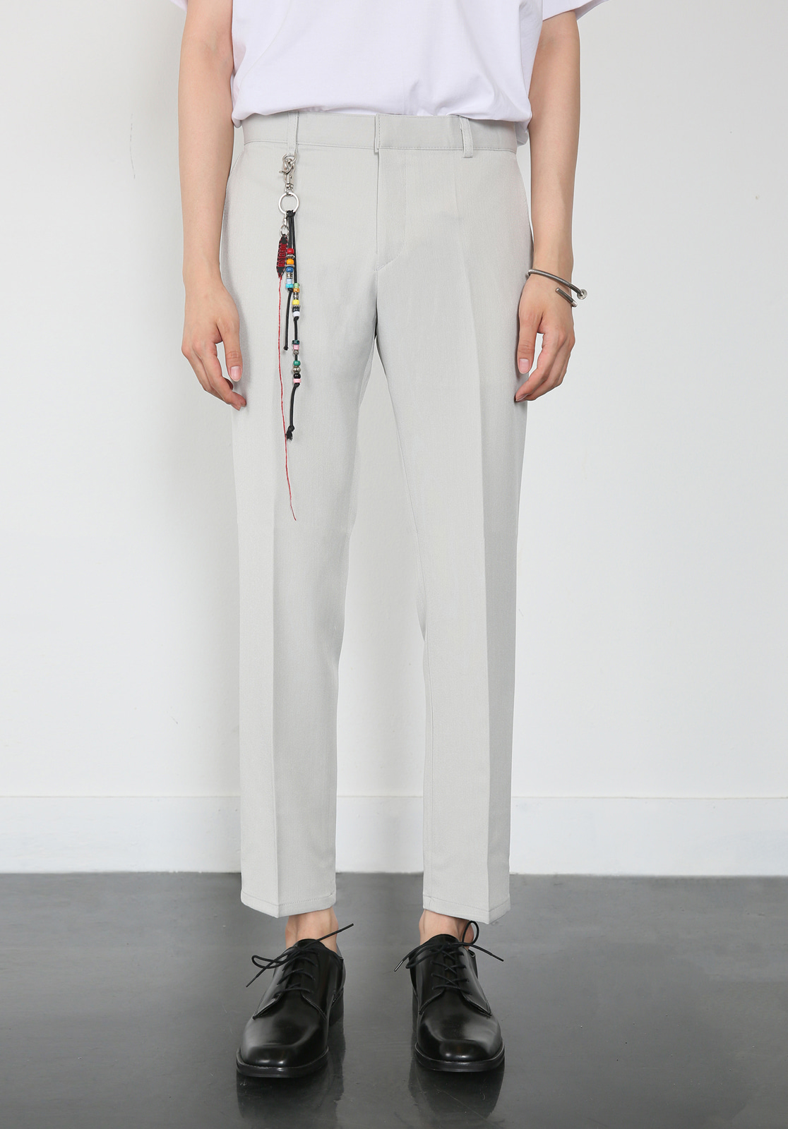 V280 PROUD CROP SLACKS  LIGHT GRAY