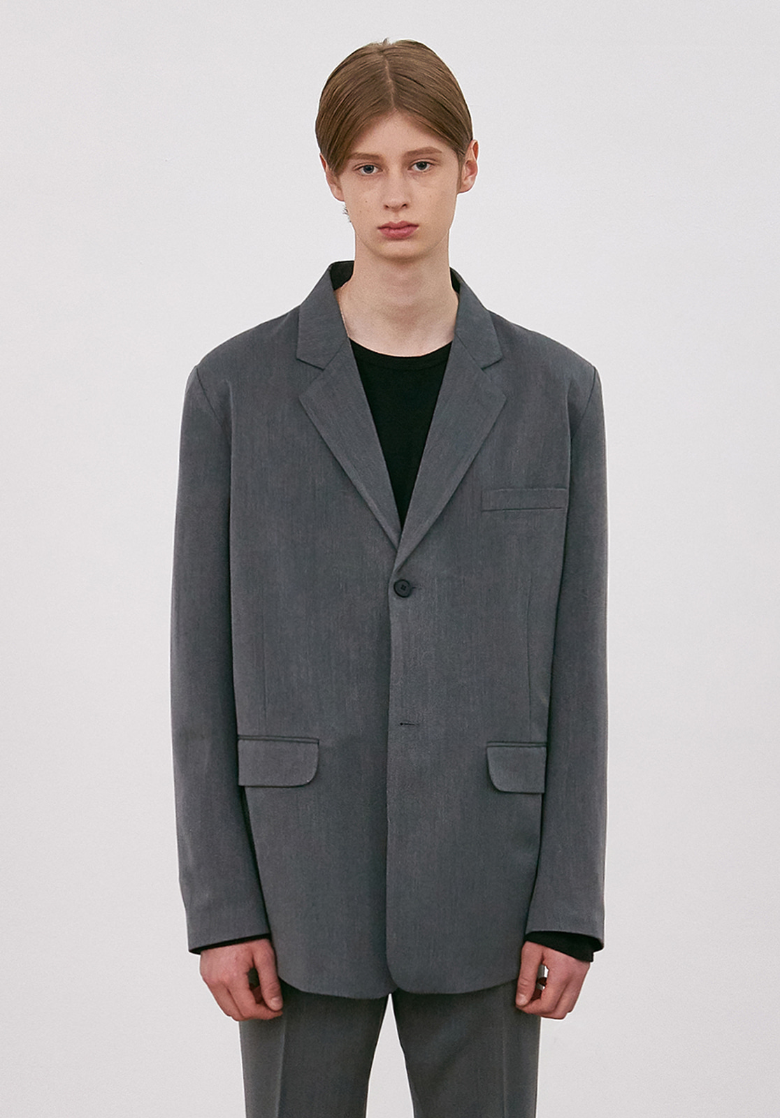 V656 PROUD SINGLE JACKET  GRAY