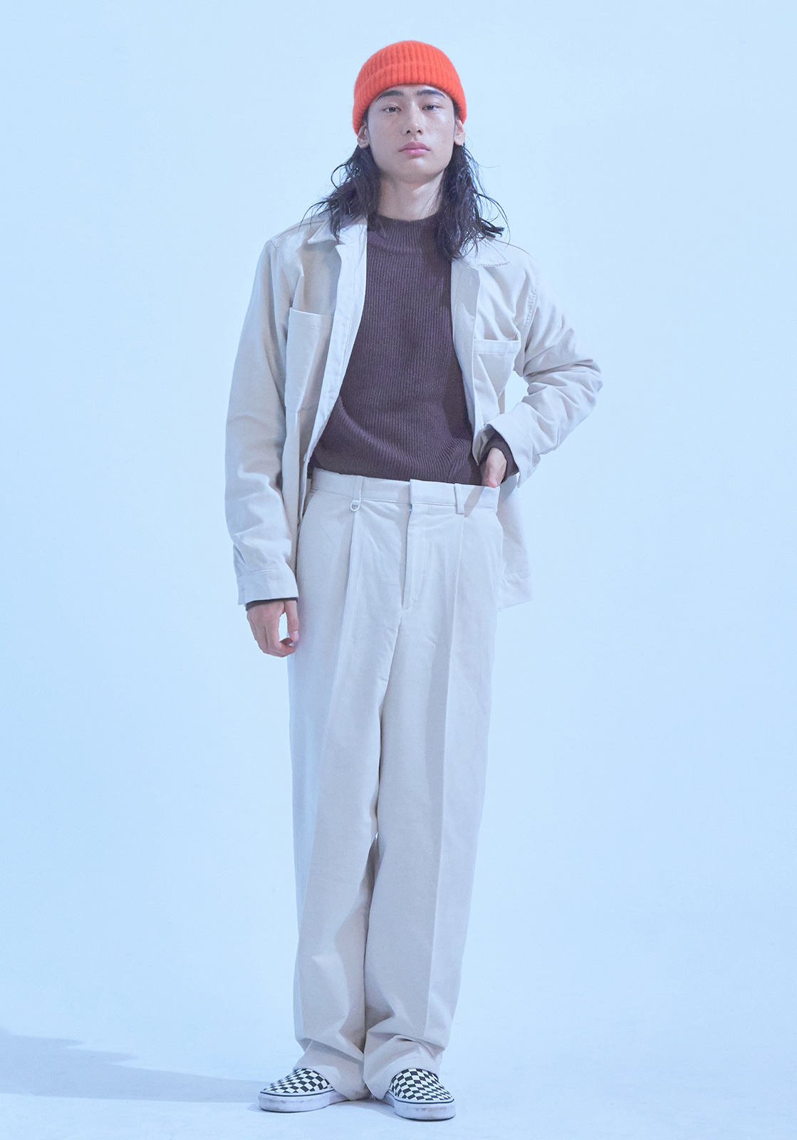 [브아빗x노승화] VG0005 WIDE BAGGY CORDUROY PANTS  IVORY