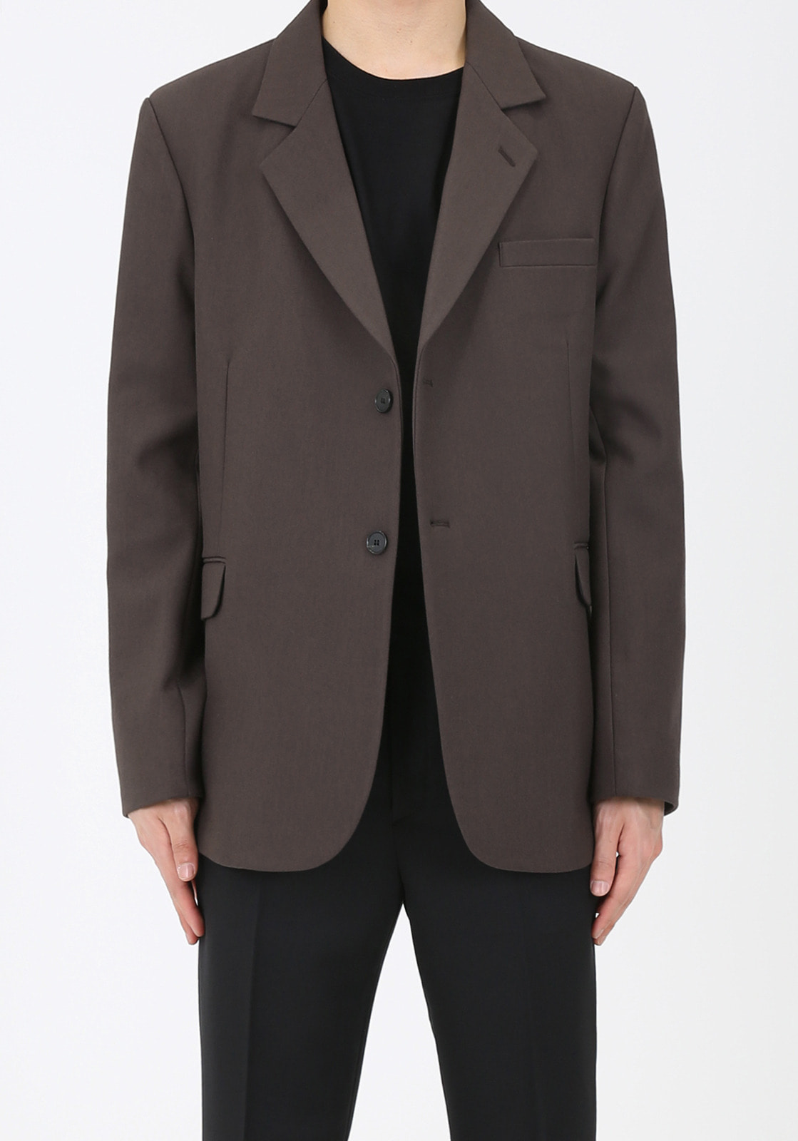 V005 OVERSIZE SINGLE JACKET  BROWN