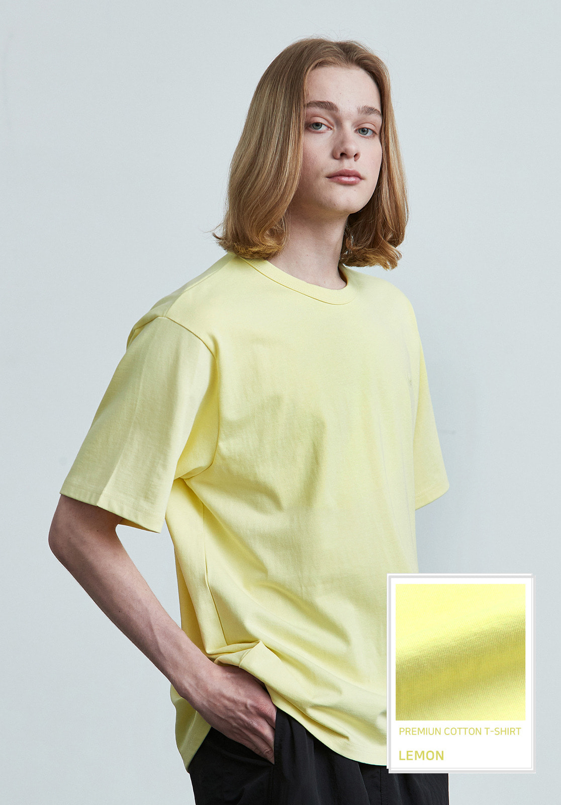 V017 PRIMIUM COTTON T-SHIRTS  LEMON