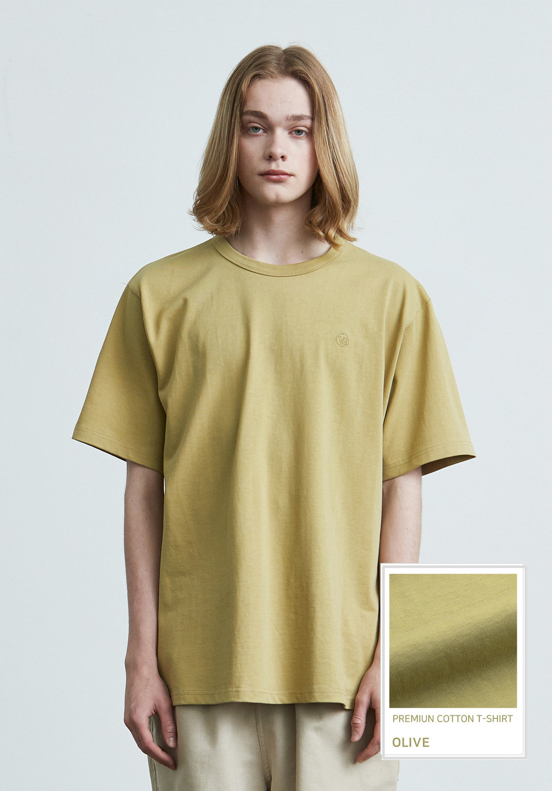 V017 PRIMIUM COTTON T-SHIRTS  OLIVE