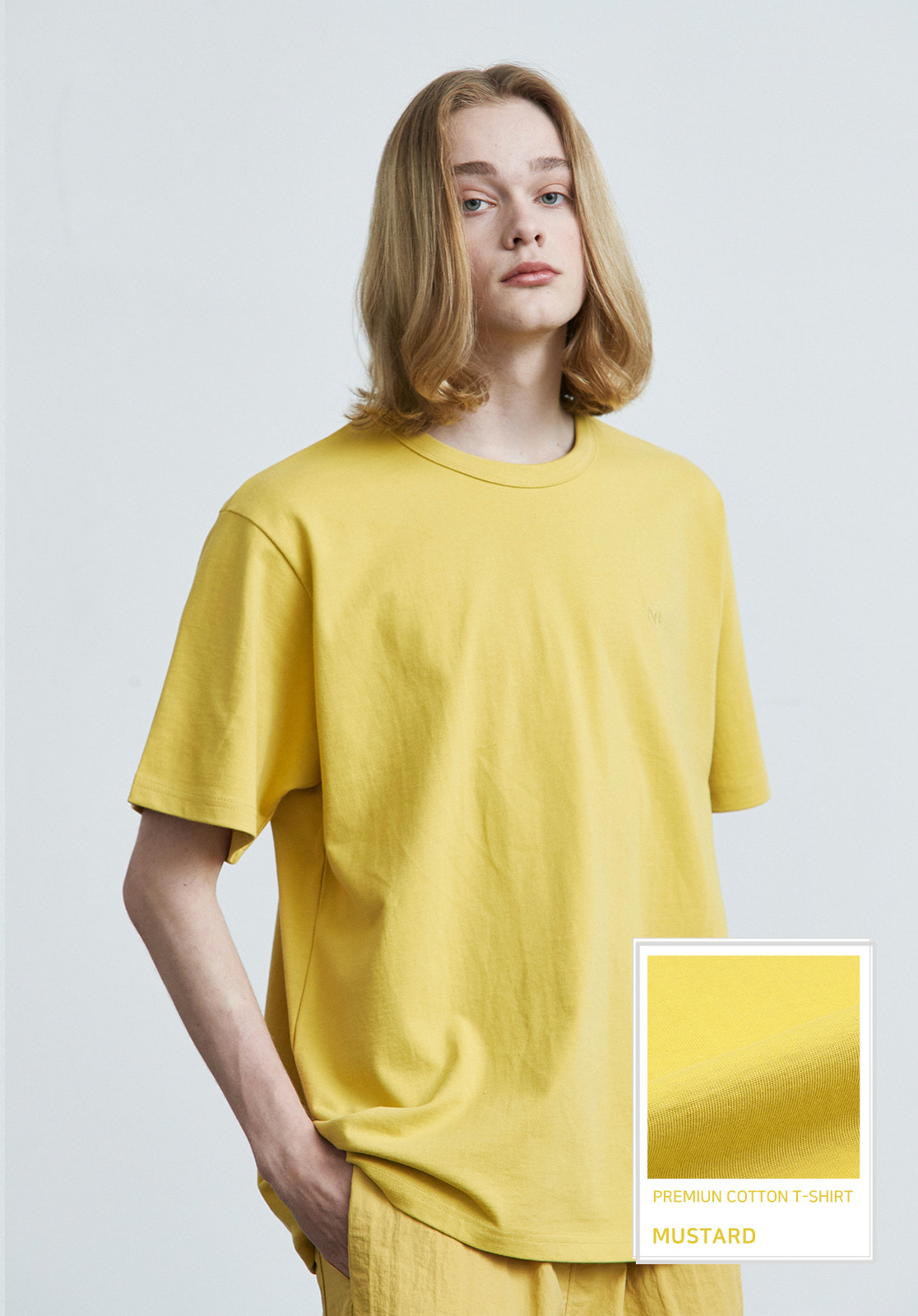 V017 PRIMIUM COTTON T-SHIRTS  MUSTARD