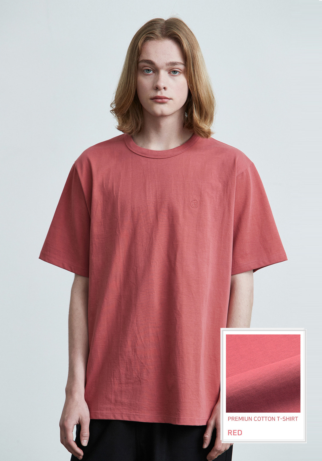 V017 PRIMIUM COTTON T-SHIRTS  RED